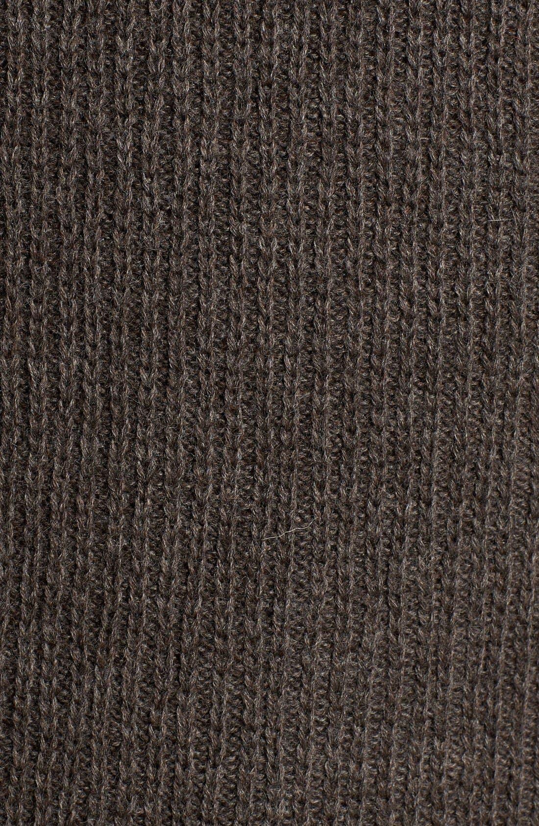 'Huka Lodge' Merino Wool Blend Quarter Zip Sweater,                             Alternate thumbnail 5, color,                             Dirt