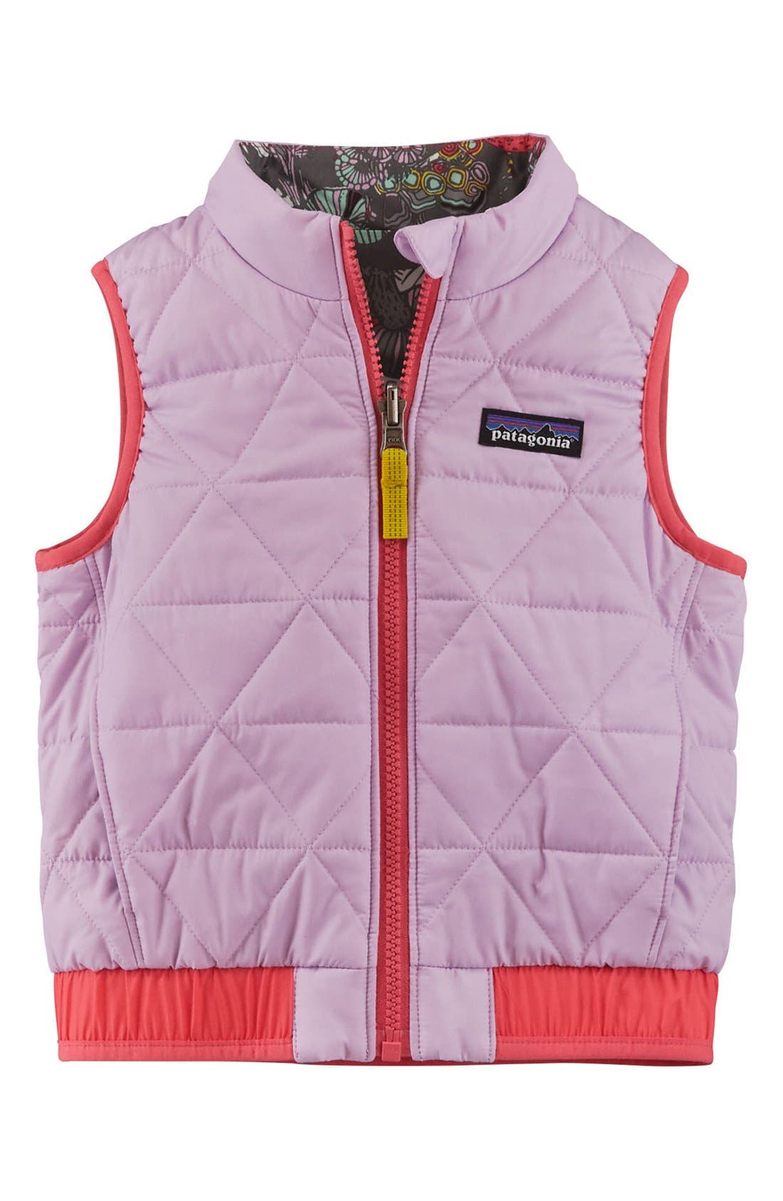 'Puff-Ball' Water Resistant Reversible Vest,                             Alternate thumbnail 3, color,                             Birch White