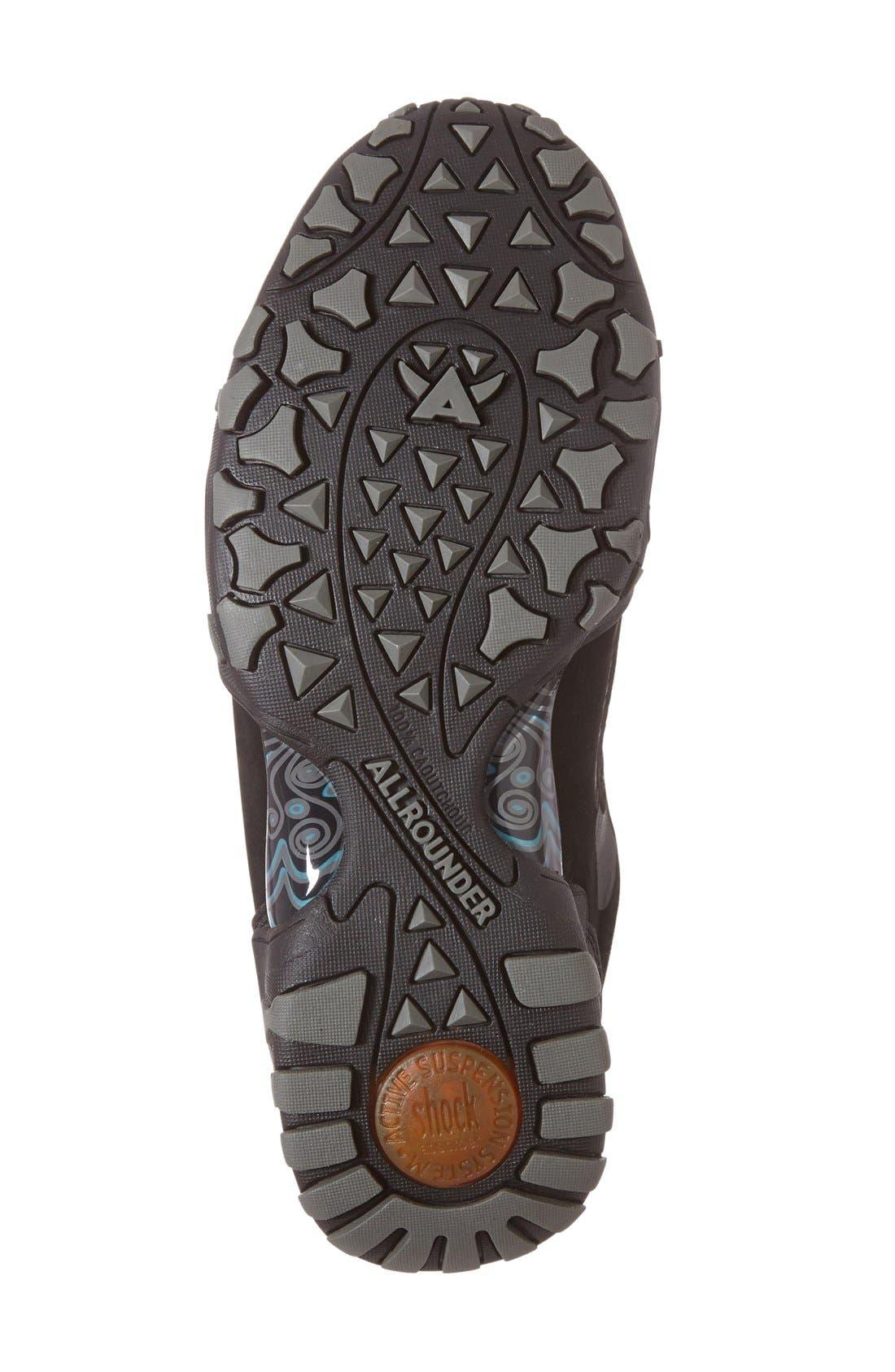 'Fina-Tex' Sneaker,                             Alternate thumbnail 4, color,                             Black Suede