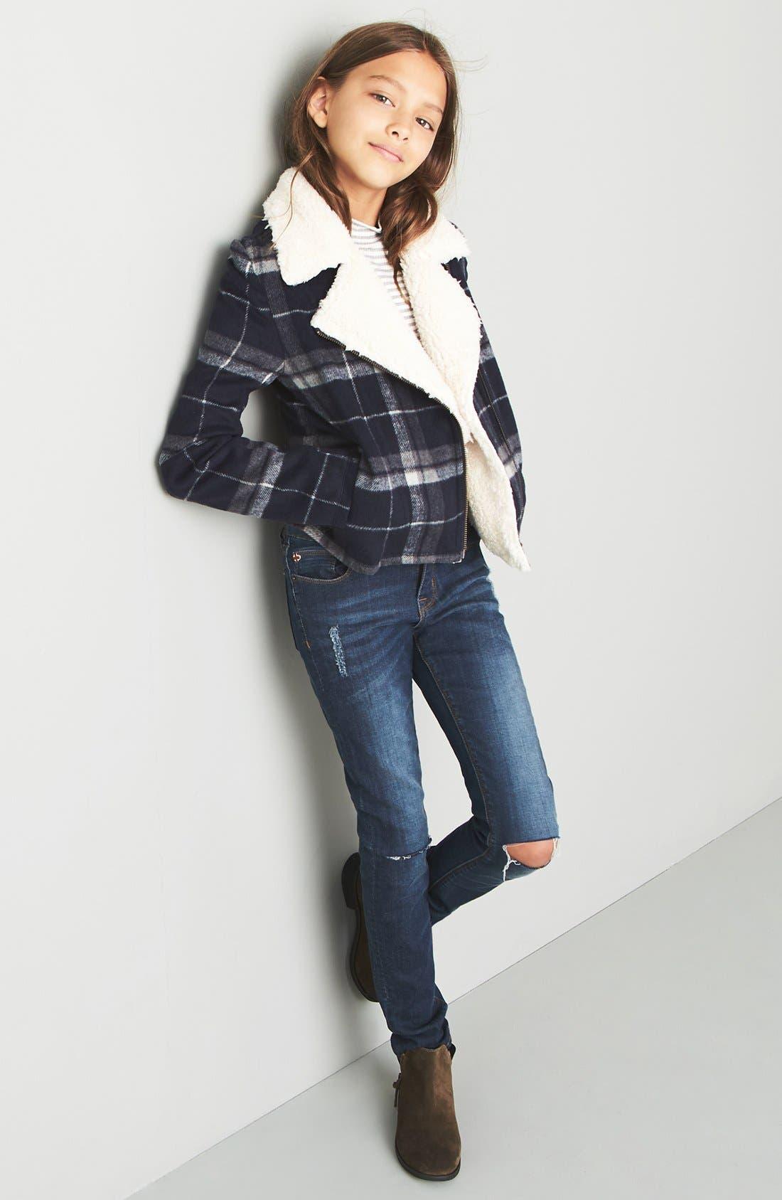 Alternate Image 2  - Hudson Kids 'Dolly' Destroyed Skinny Jeans (Big Girls)