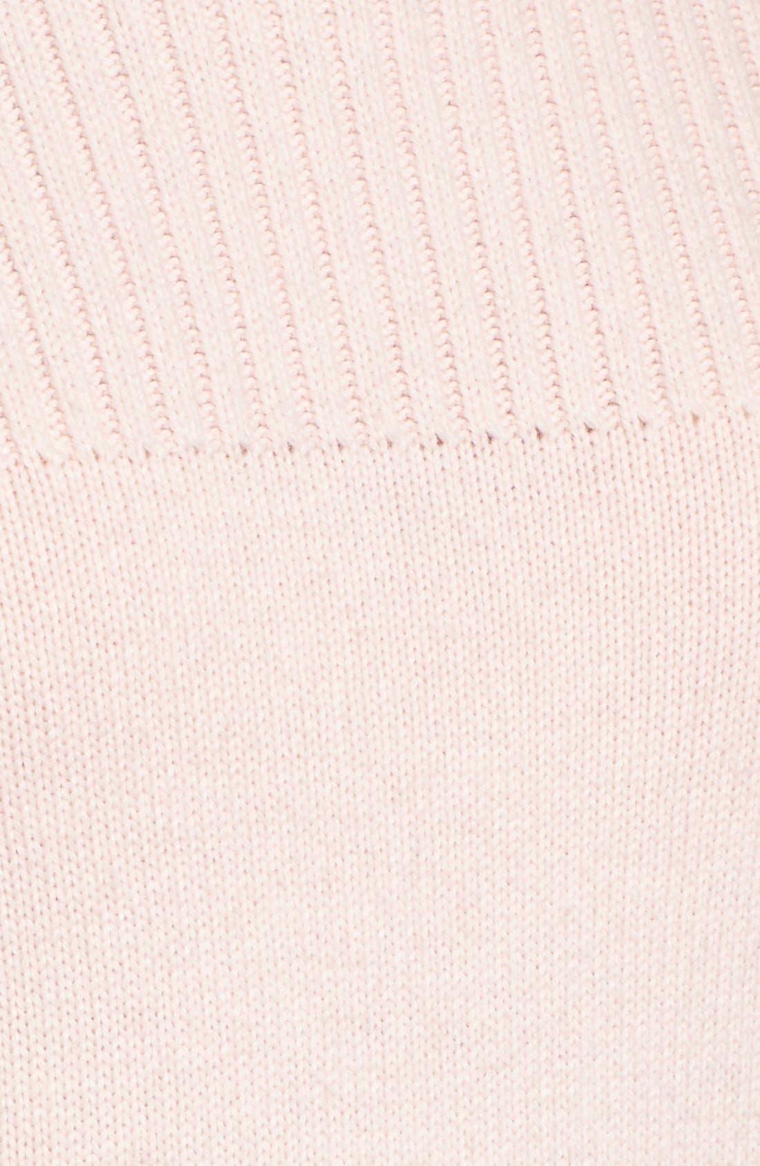 Alternate Image 6  - Halogen® Ribbed Yoke Pullover (Regular & Petite)