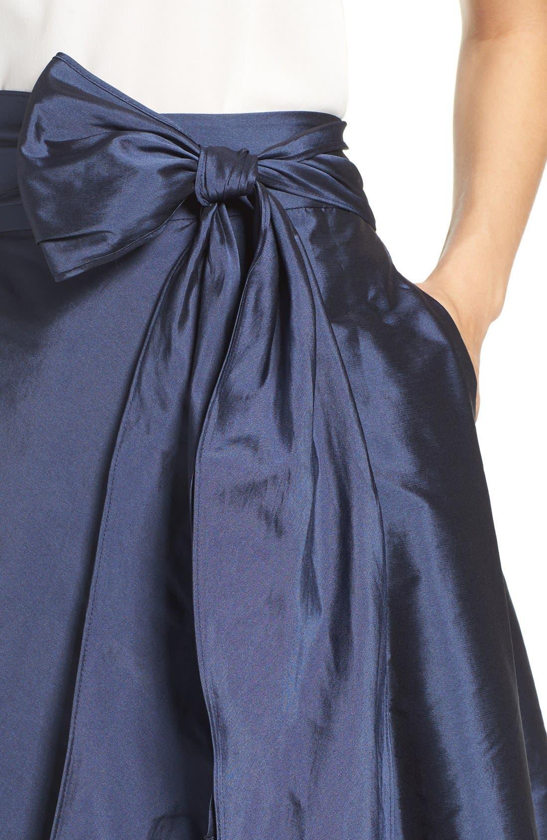 Alternate Image 5  - Adrianna Papell High/Low Taffeta Ball Skirt