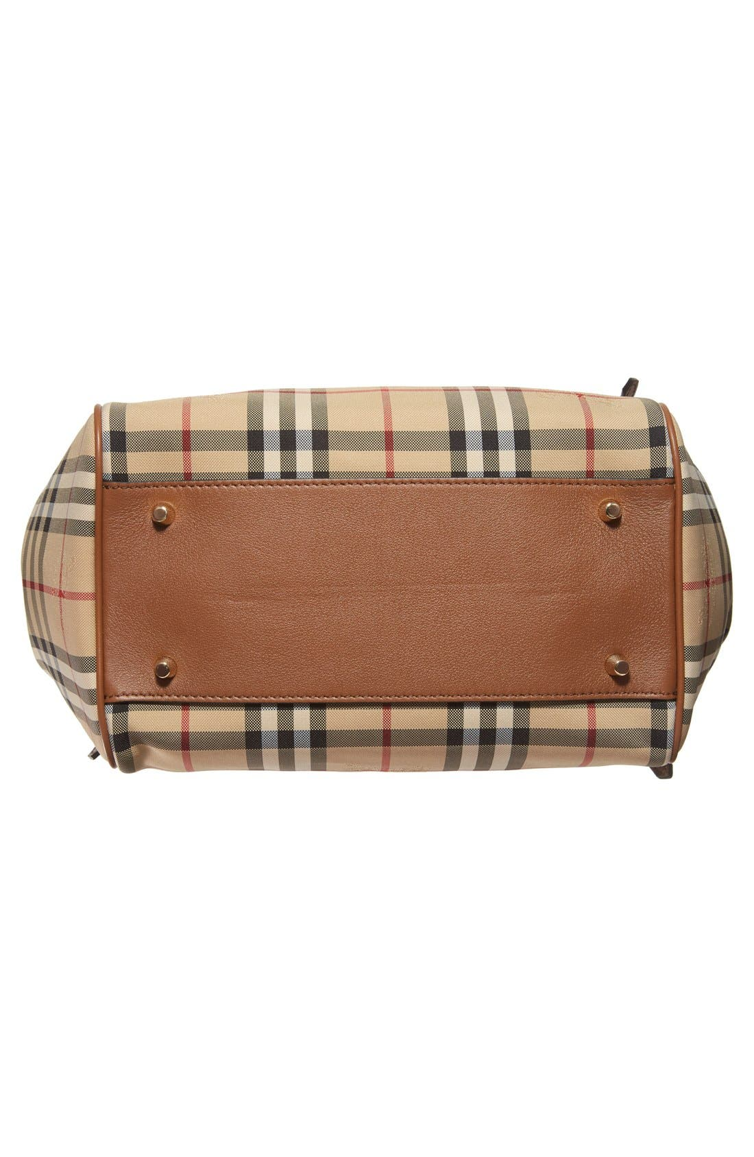 Alternate Image 6  - Burberry Small Canter Check & Leather Tote