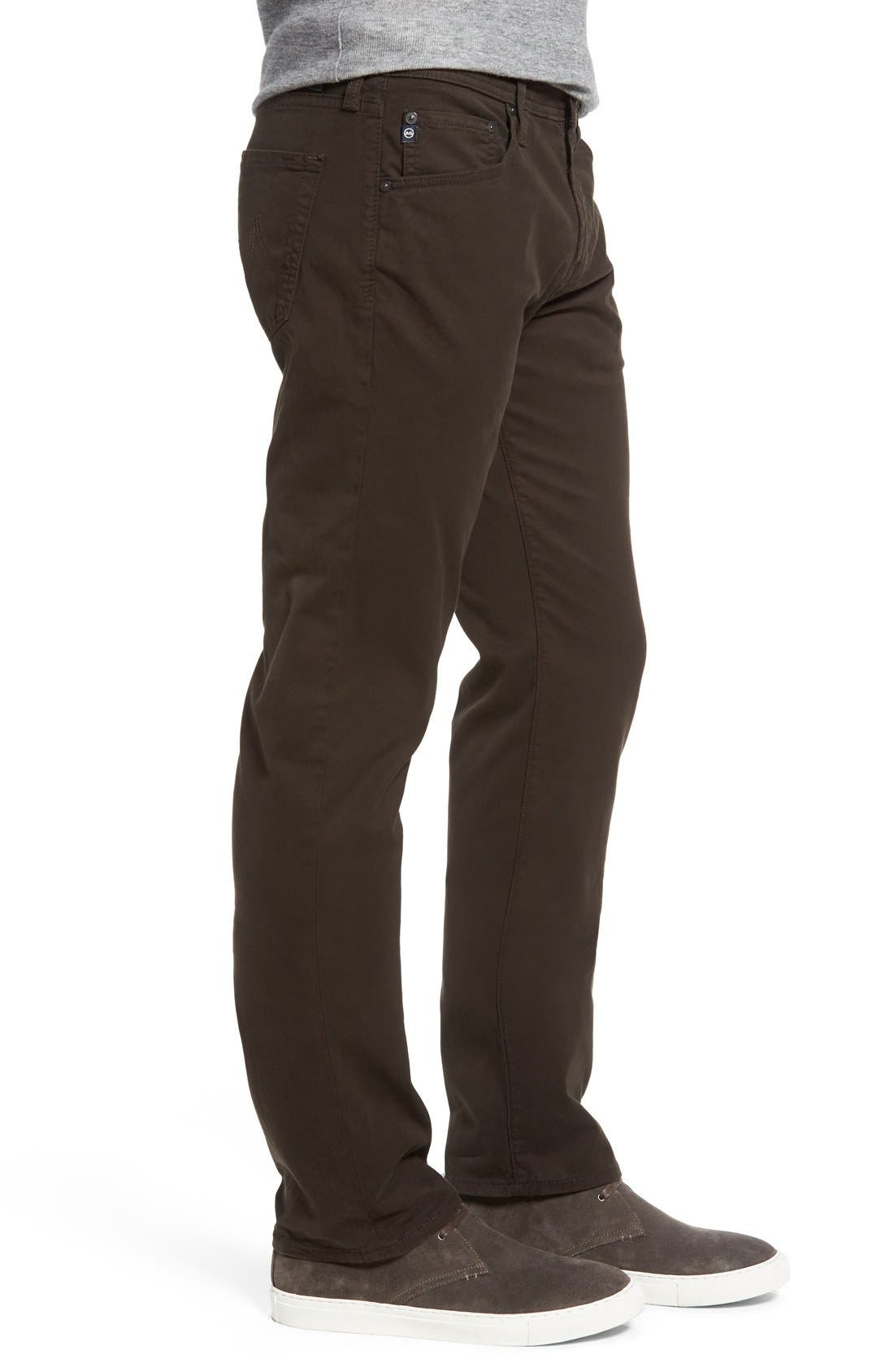 'Matchbox BES' Slim Fit Pants,                             Alternate thumbnail 5, color,                             Deep Bark