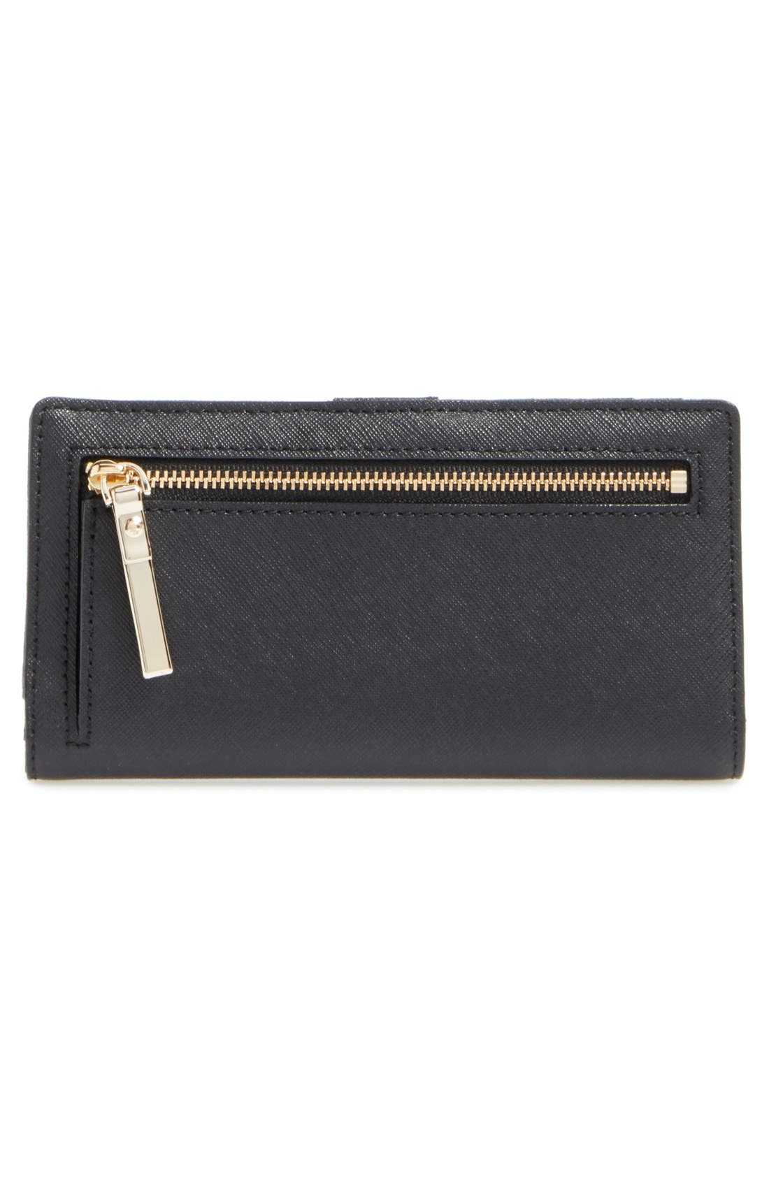 'cameron street - stacy' textured leather wallet,                             Alternate thumbnail 4, color,                             Black