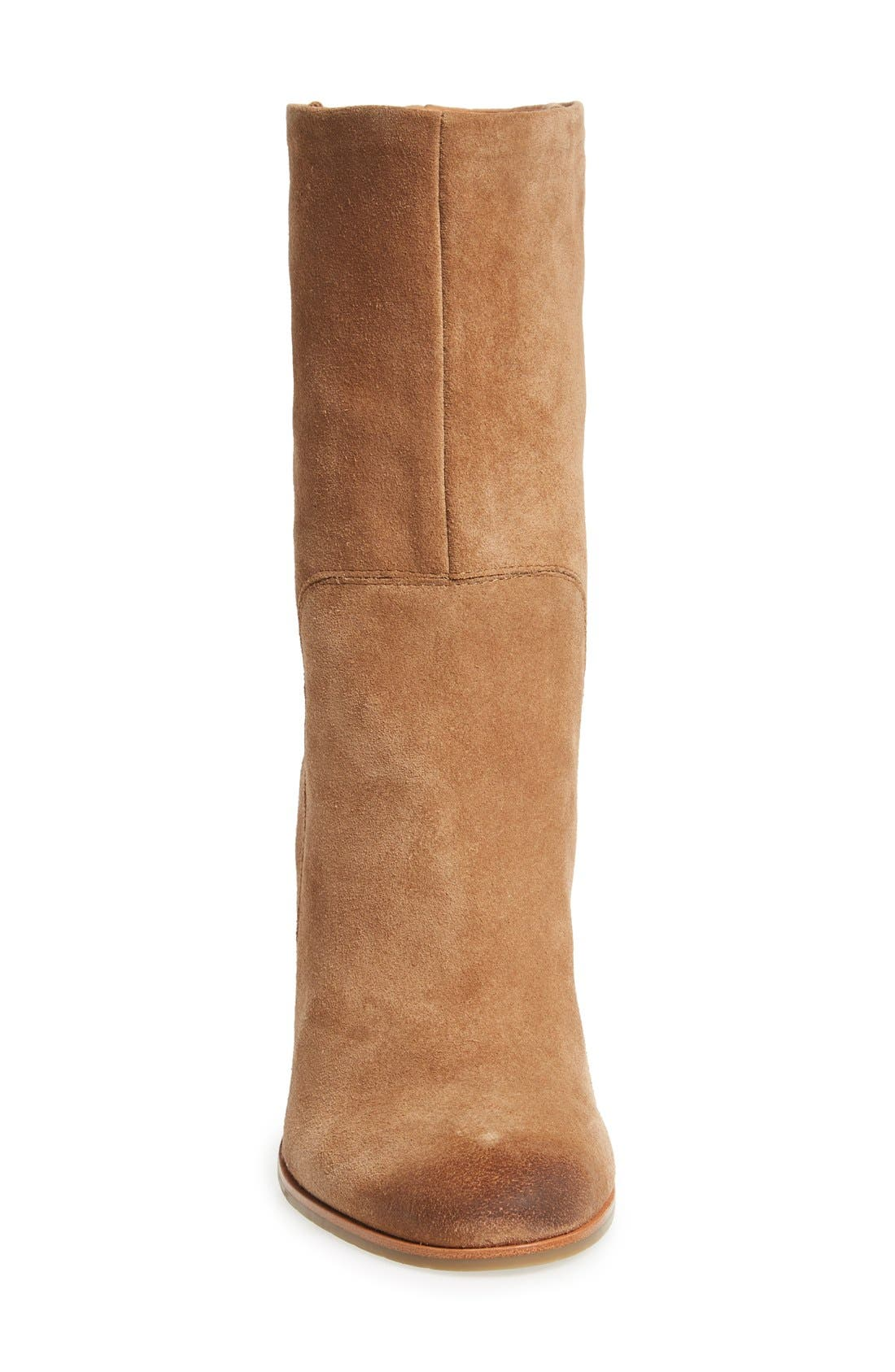 'Jenni' Round Toe Boot,                             Alternate thumbnail 3, color,                             Desert Suede