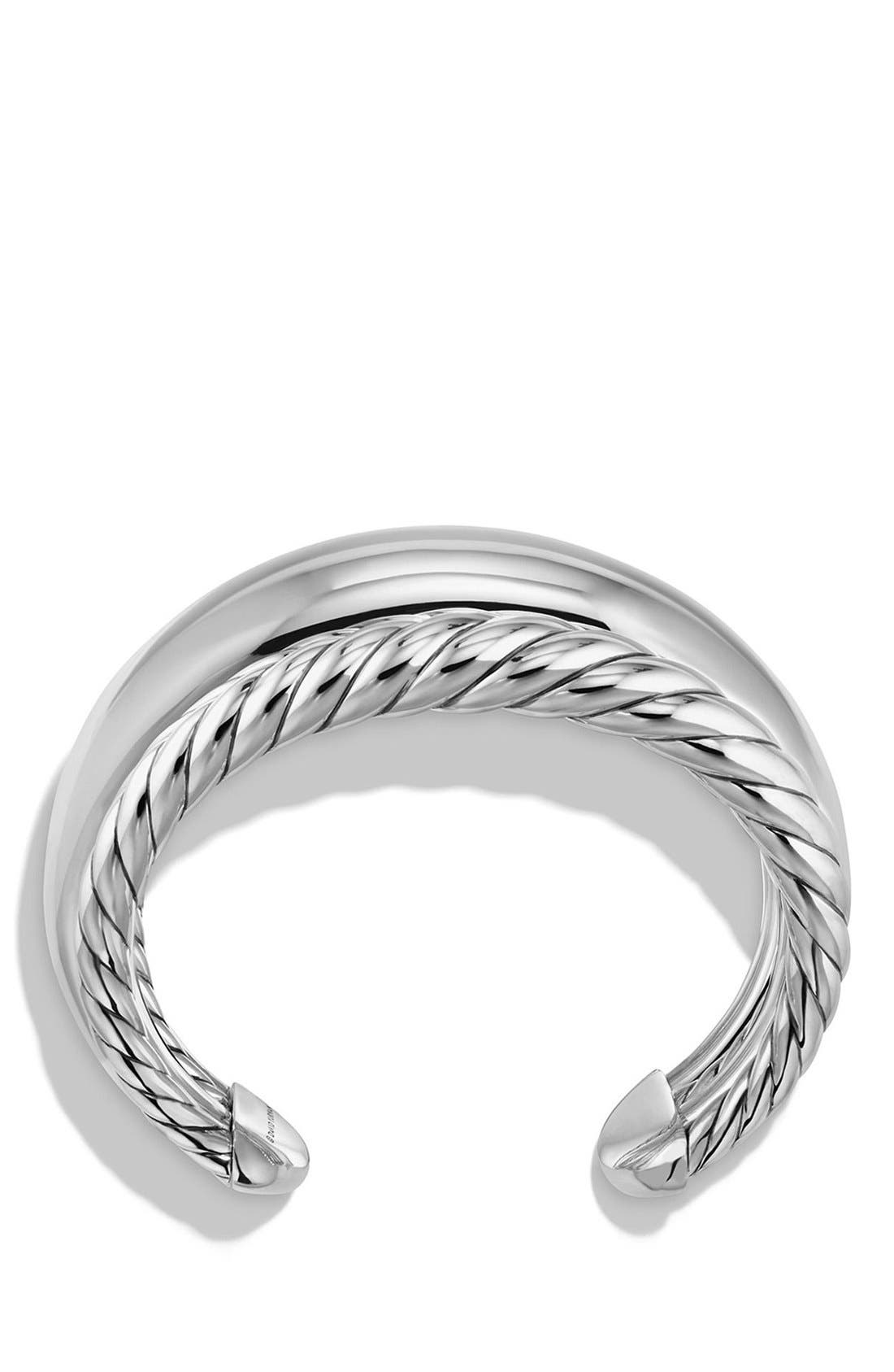 'Pure Form' Four-Row Sterling Silver Cuff,                             Alternate thumbnail 2, color,                             Silver