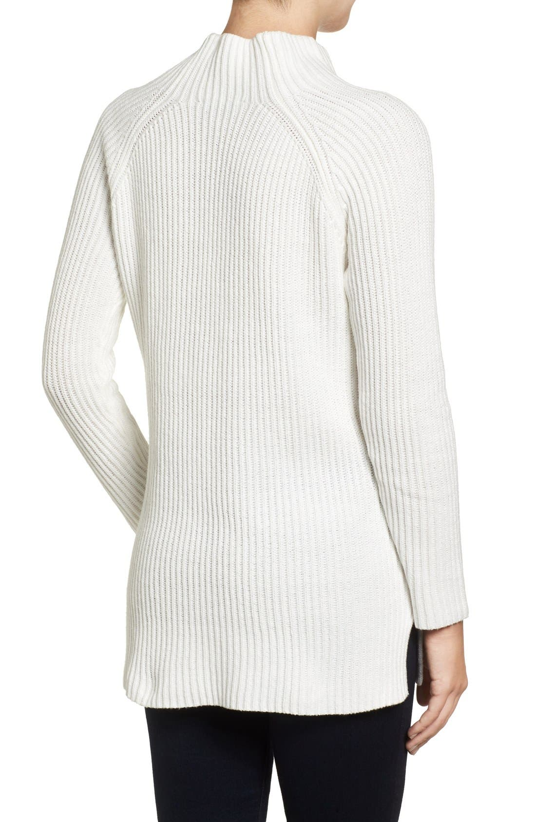 Alternate Image 2  - Chaus Two-Pocket Mock Neck Tunic Sweater