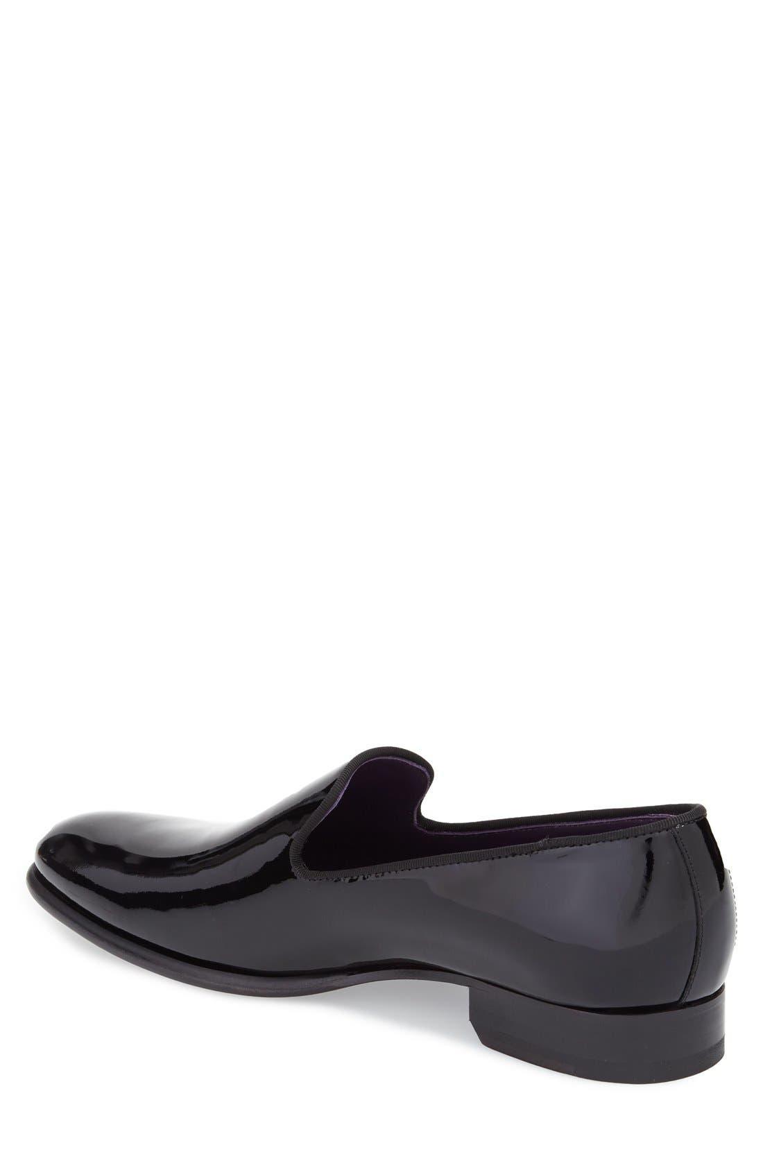 'Delevan' Loafer,                             Alternate thumbnail 2, color,                             Black Patent