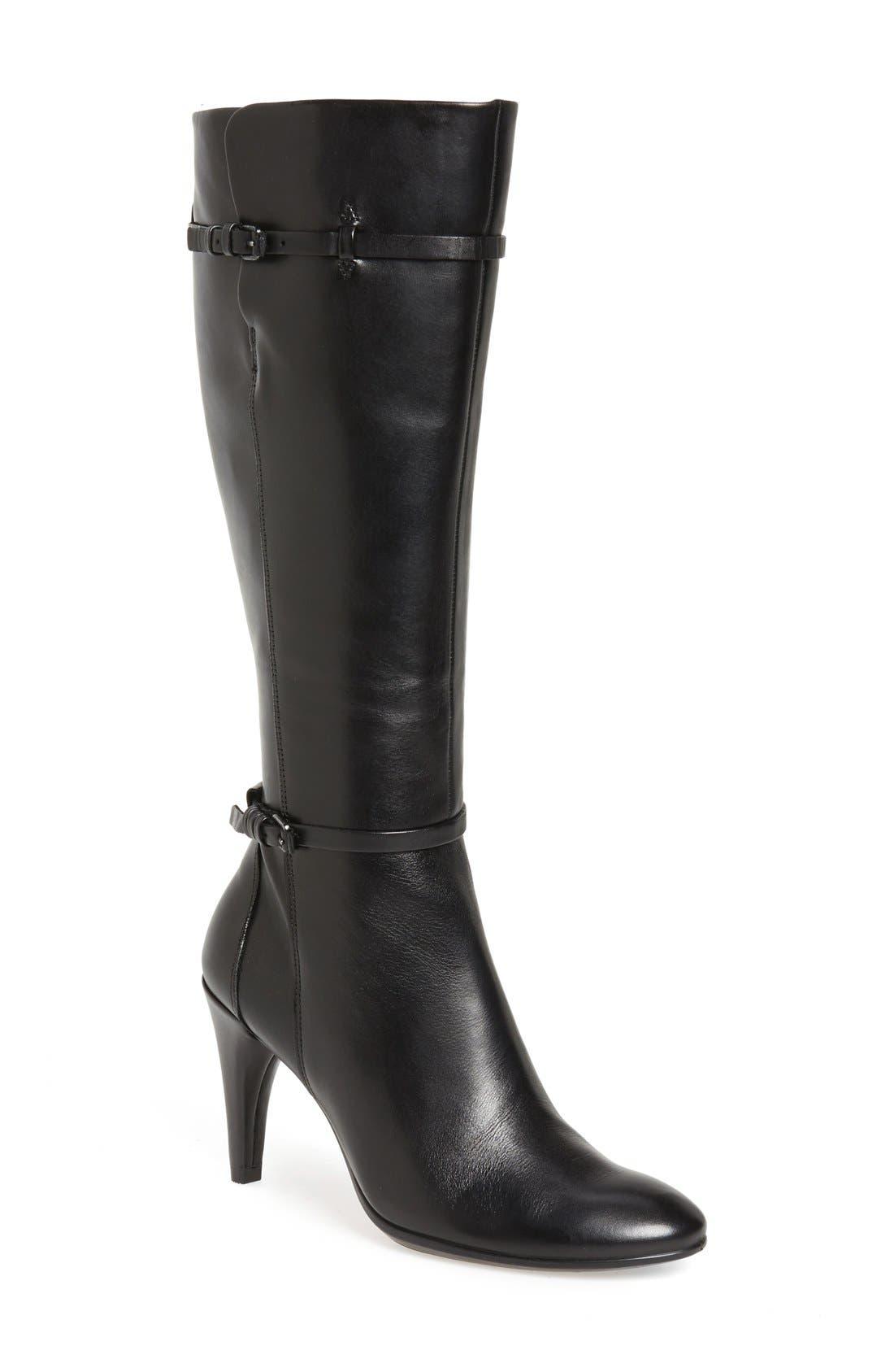ECCO 'Shape 75' Knee High Zip Boot (Women)