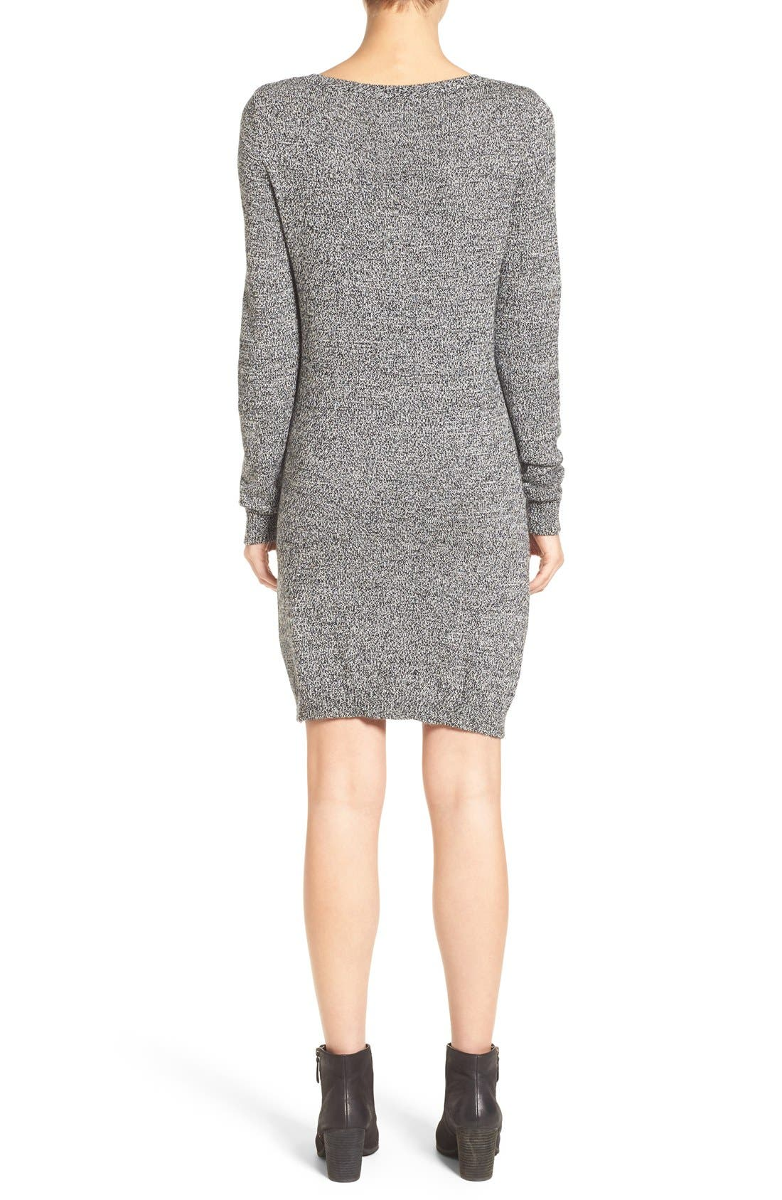 Alternate Image 2  - BP. Zip Detail Sweater Dress
