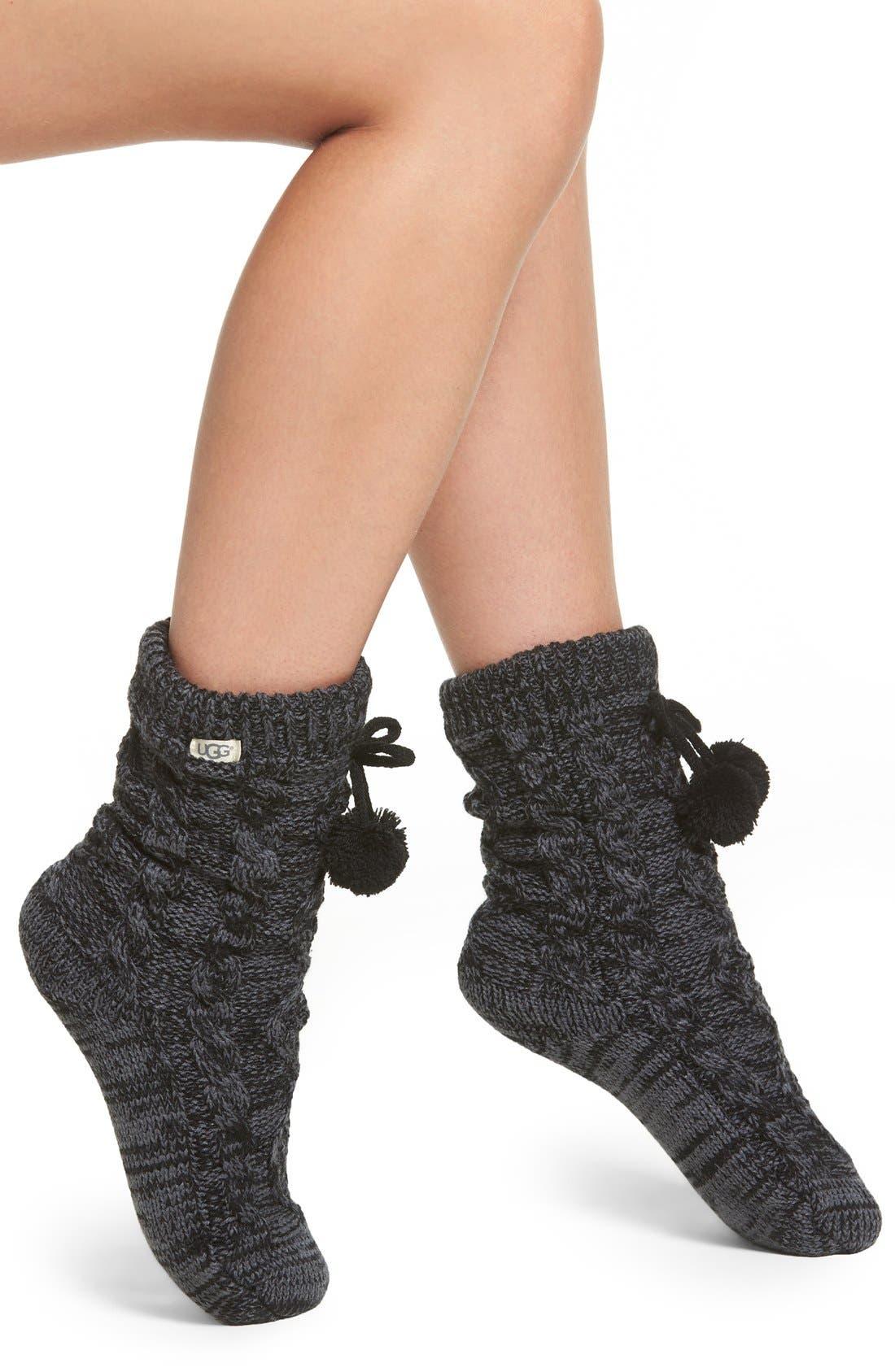 Fleece Lined Socks,                             Main thumbnail 1, color,                             Nightfall
