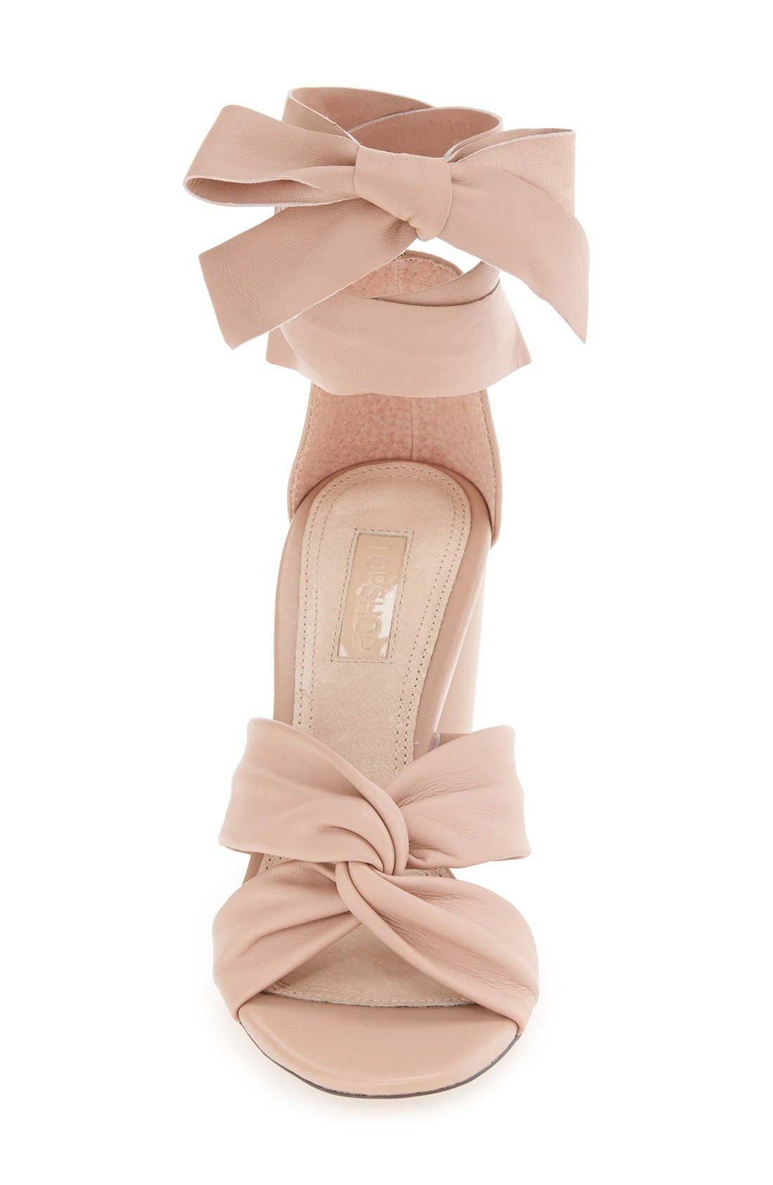 Alternate Image 3  - Topshop 'Rosetta' Soft Knot Wraparound Sandal (Women)