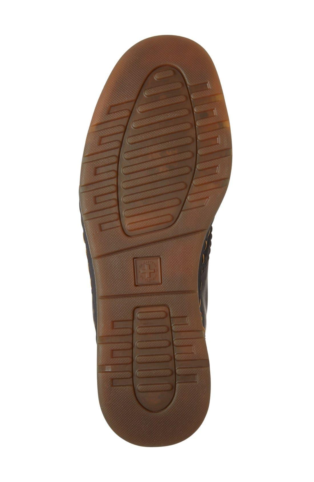 'Newton' Boot,                             Alternate thumbnail 4, color,                             Black Leather