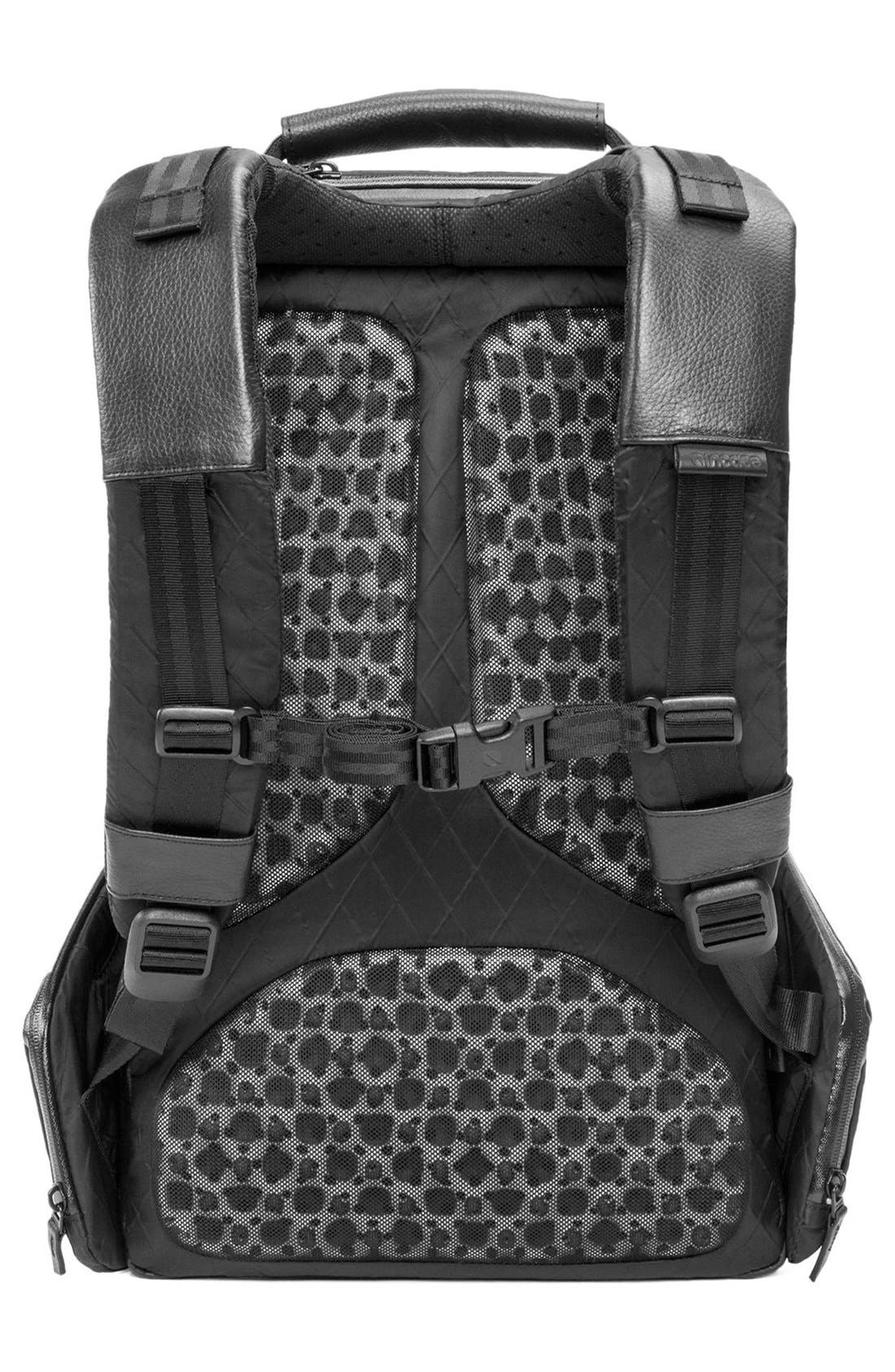 'Icon' Diamond Wire Backpack,                             Alternate thumbnail 2, color,                             Black
