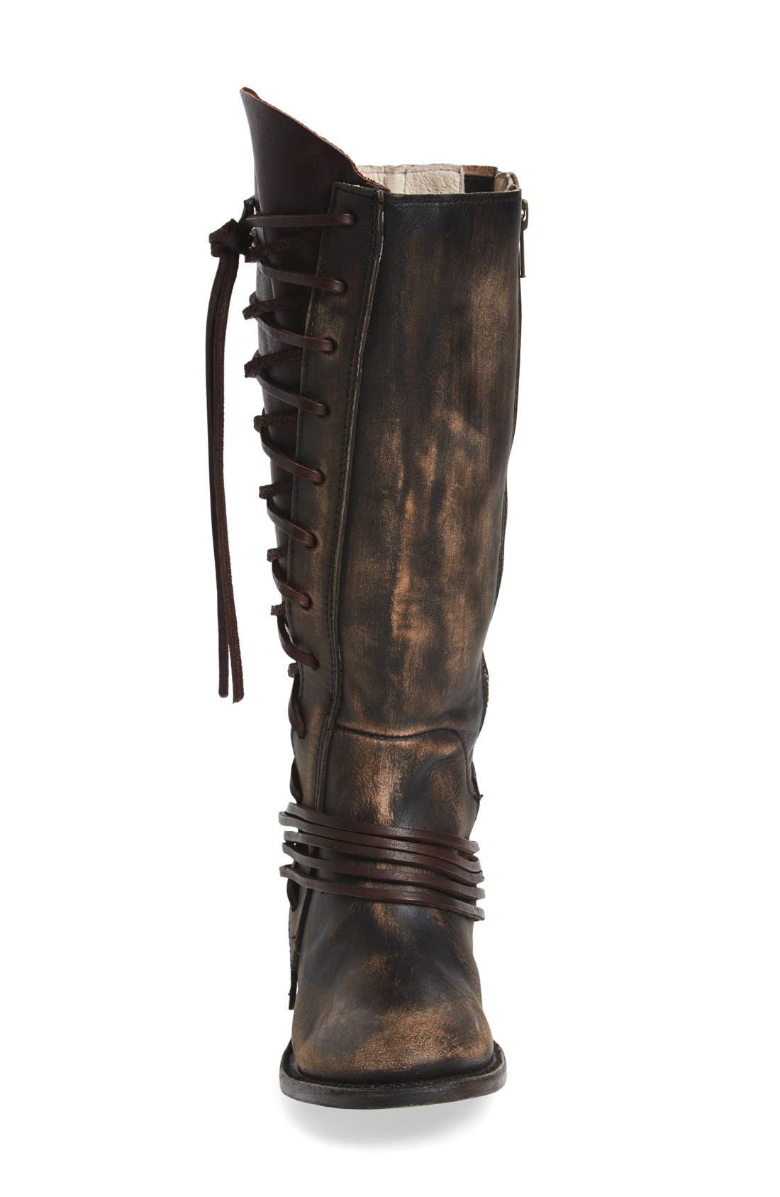 'Cash' Tall Boot,                             Alternate thumbnail 3, color,                             Brown Multi Leather
