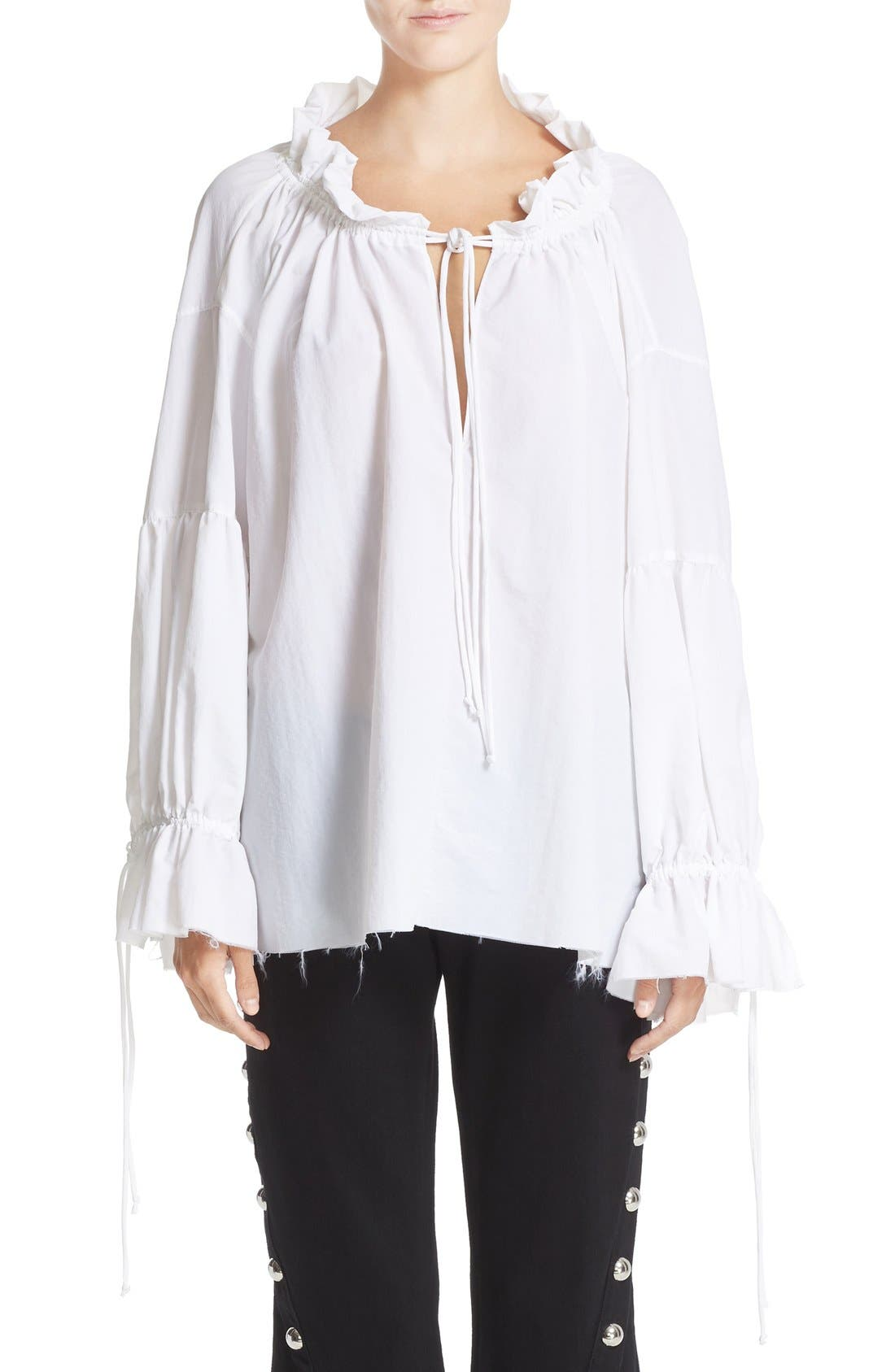 Alternate Image 1 Selected - Marques'Almeida Gathered Pirate Top