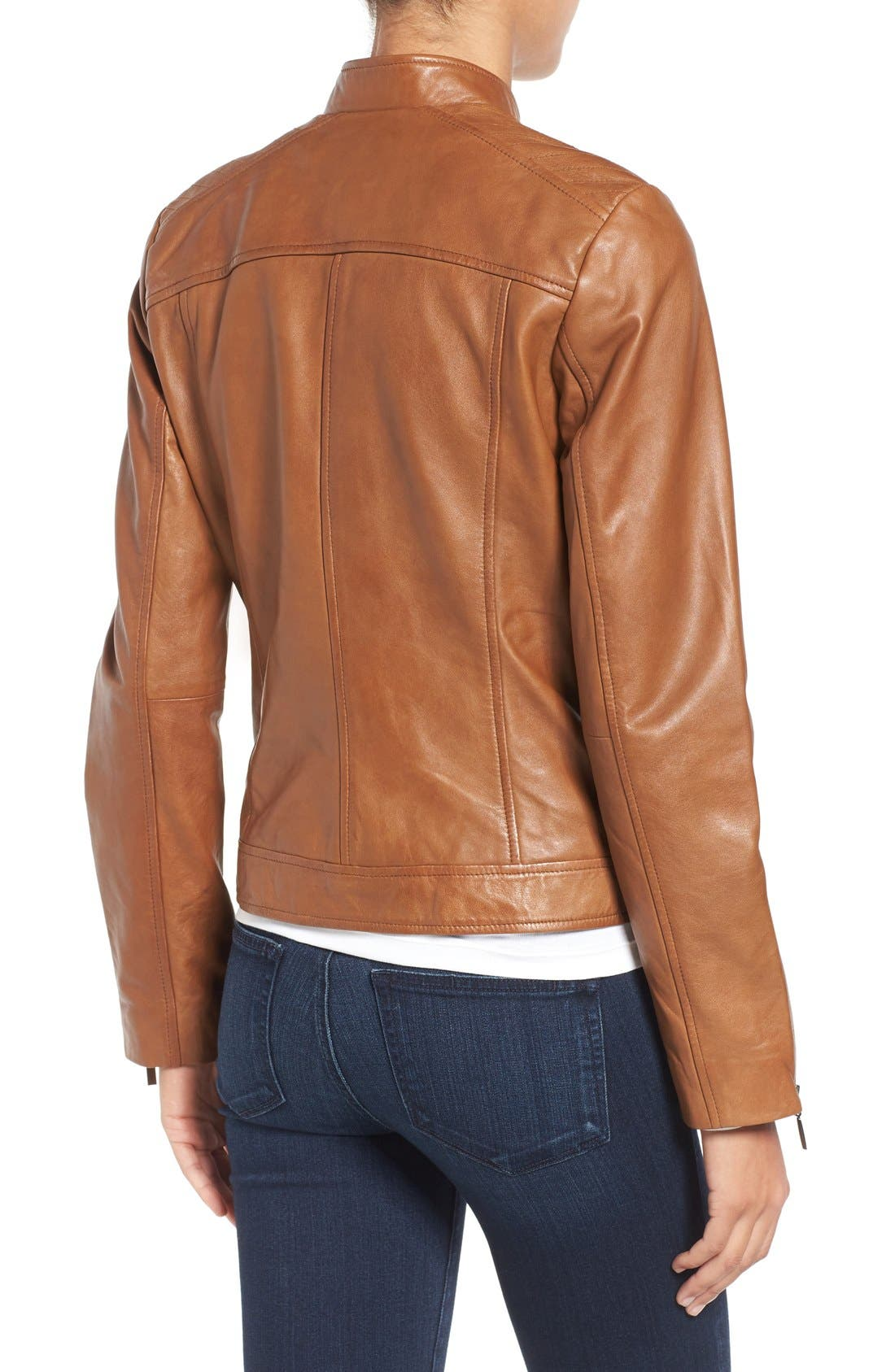 Alternate Image 3  - Bernardo Kirwin Leather Jacket (Regular & Petite)