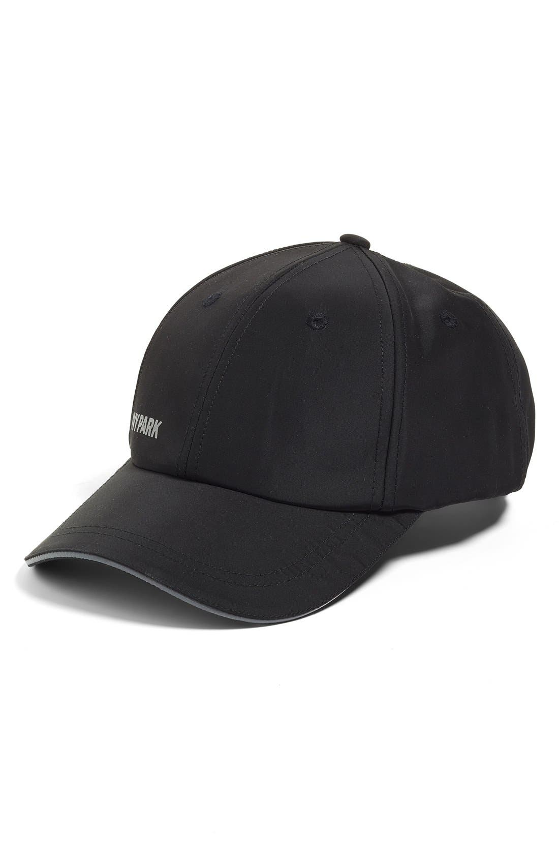 Reflective Logo Baseball Cap,                         Main,                         color, Black