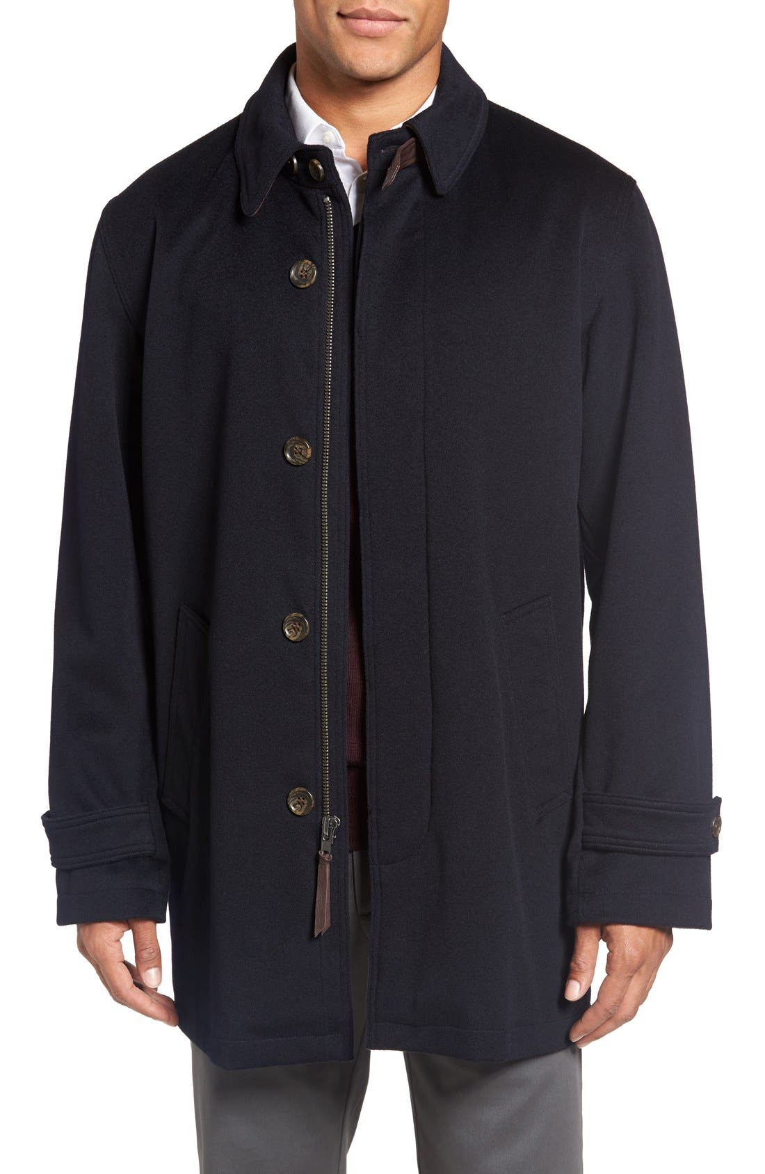 Wool Overcoat,                         Main,                         color, Navy