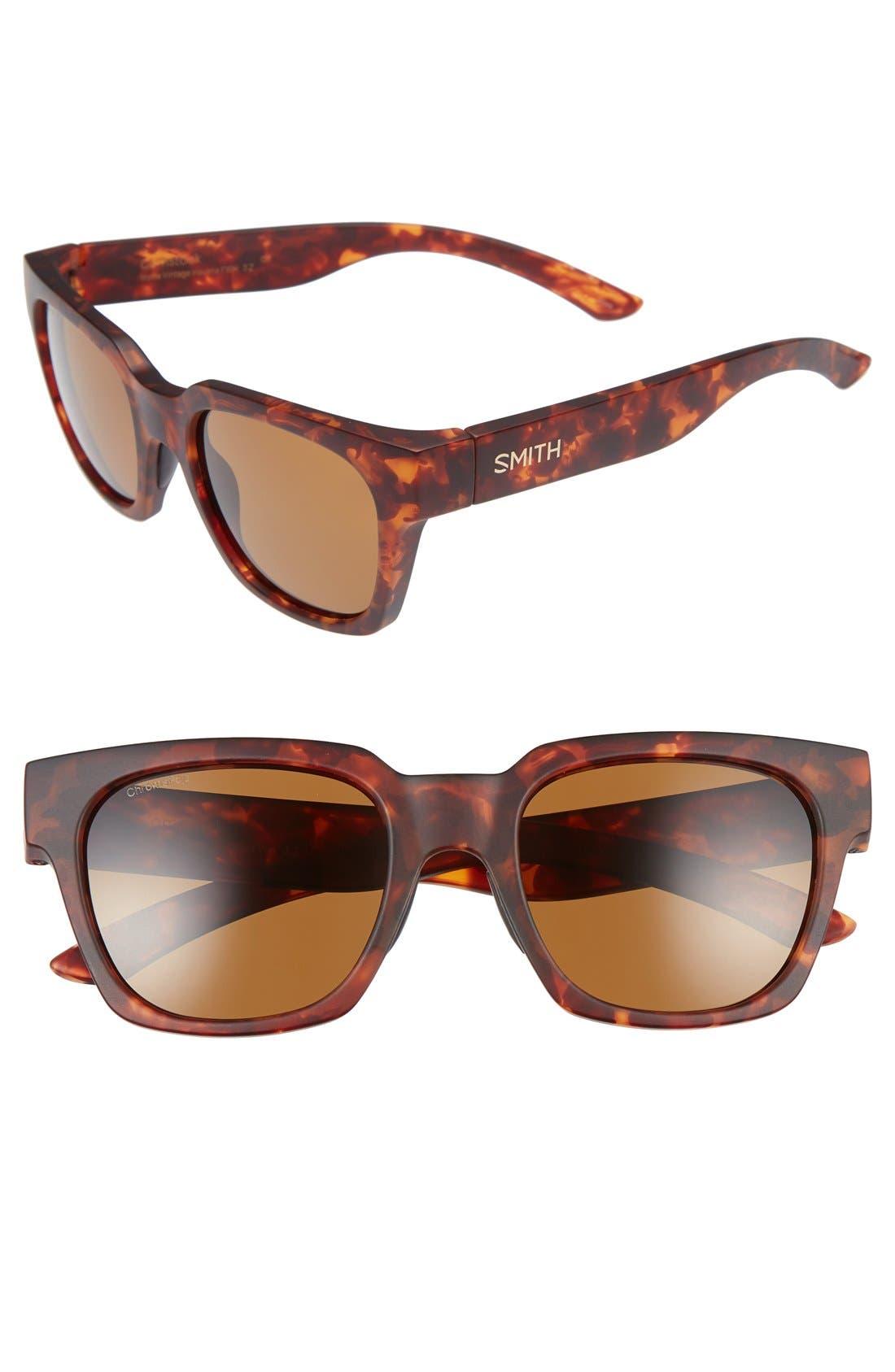 'Comstock' 52mm Polarized Sunglasses,                             Main thumbnail 1, color,                             Matte Vintage Havana