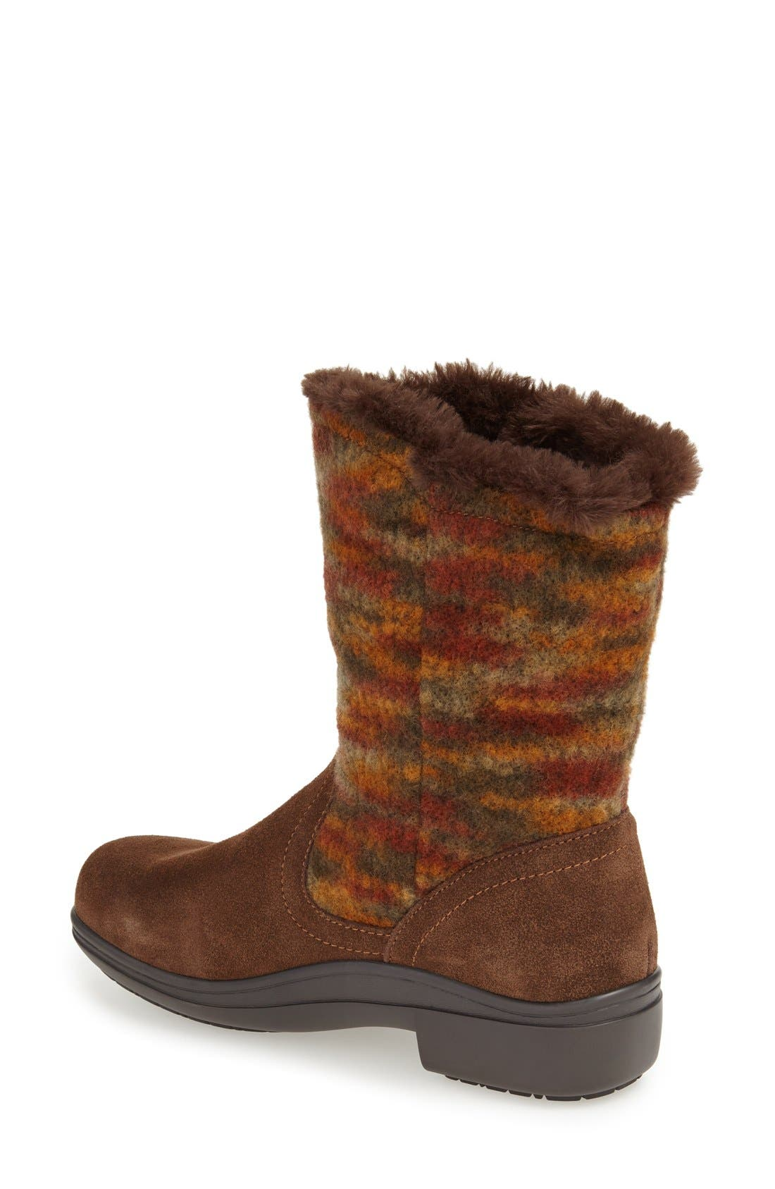'Nanook' Suede Boot,                             Alternate thumbnail 2, color,                             Pecan Fuzzy Leather