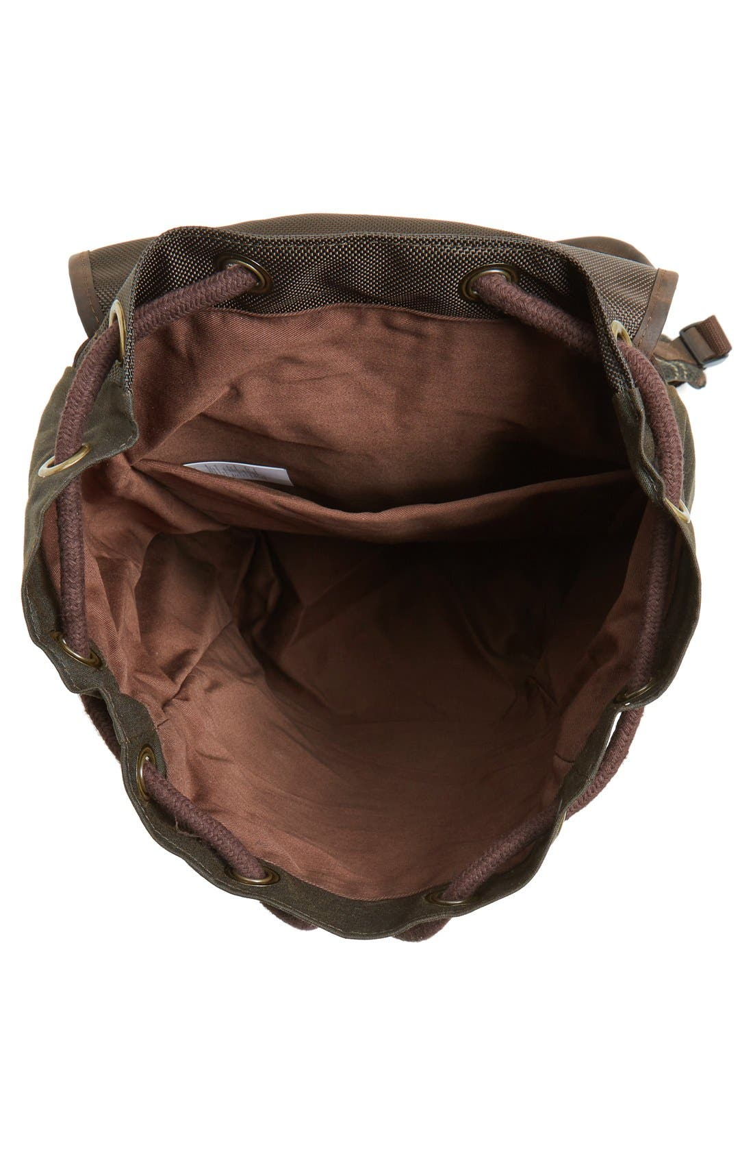Waxed Canvas Backpack,                             Alternate thumbnail 4, color,                             Classic