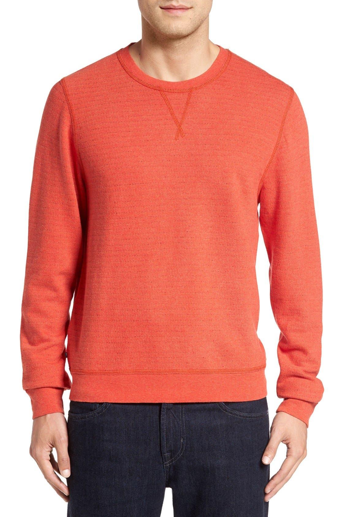 Main Image - Cutter & Buck 'Gleann' French Terry Crewneck Sweatshirt (Big & Tall)