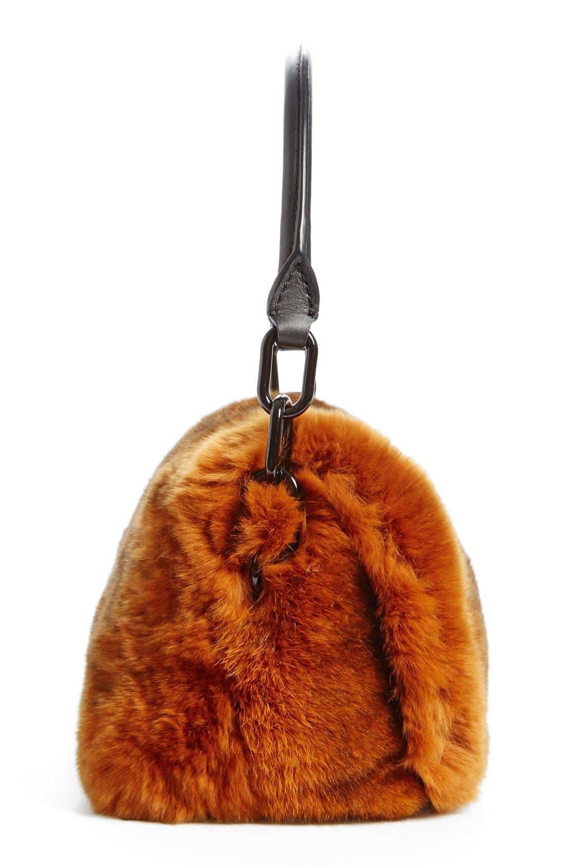 Alternate Image 4  - Alexander Wang Mini Genuine Rabbit Fur Handbag