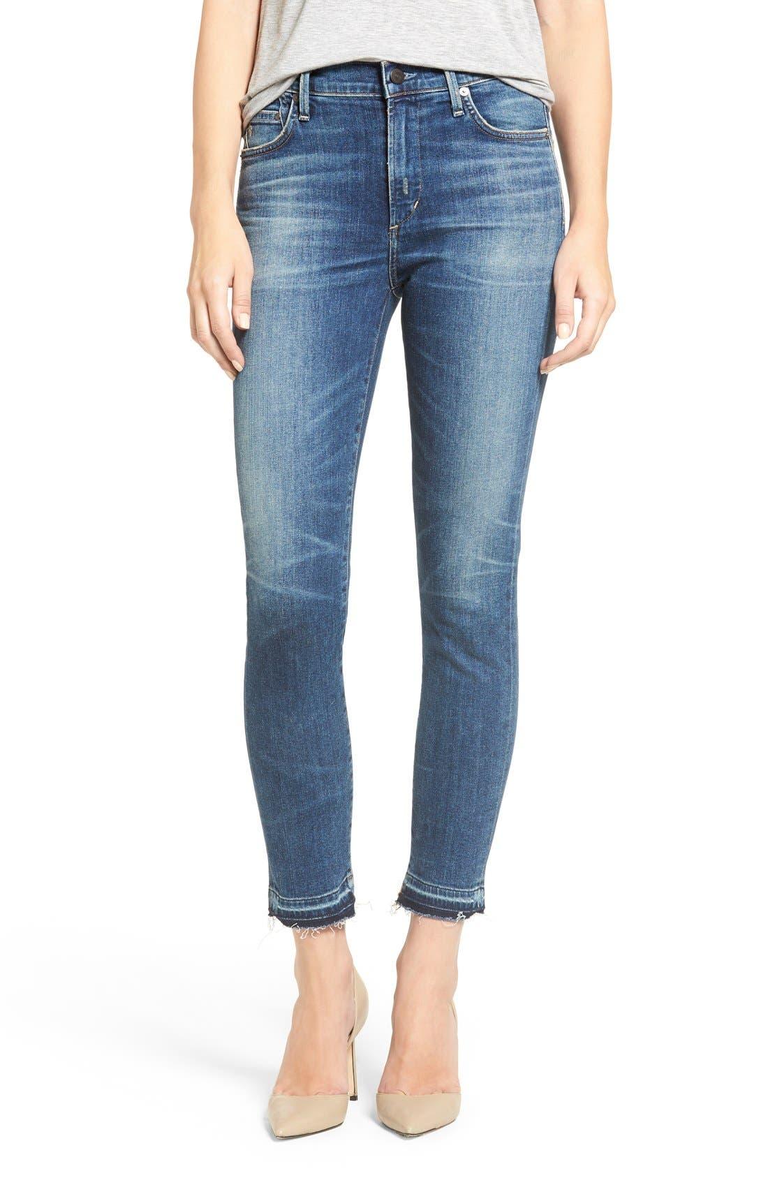 Rocket High Waist Crop Skinny Jeans,                         Main,                         color, Weekender