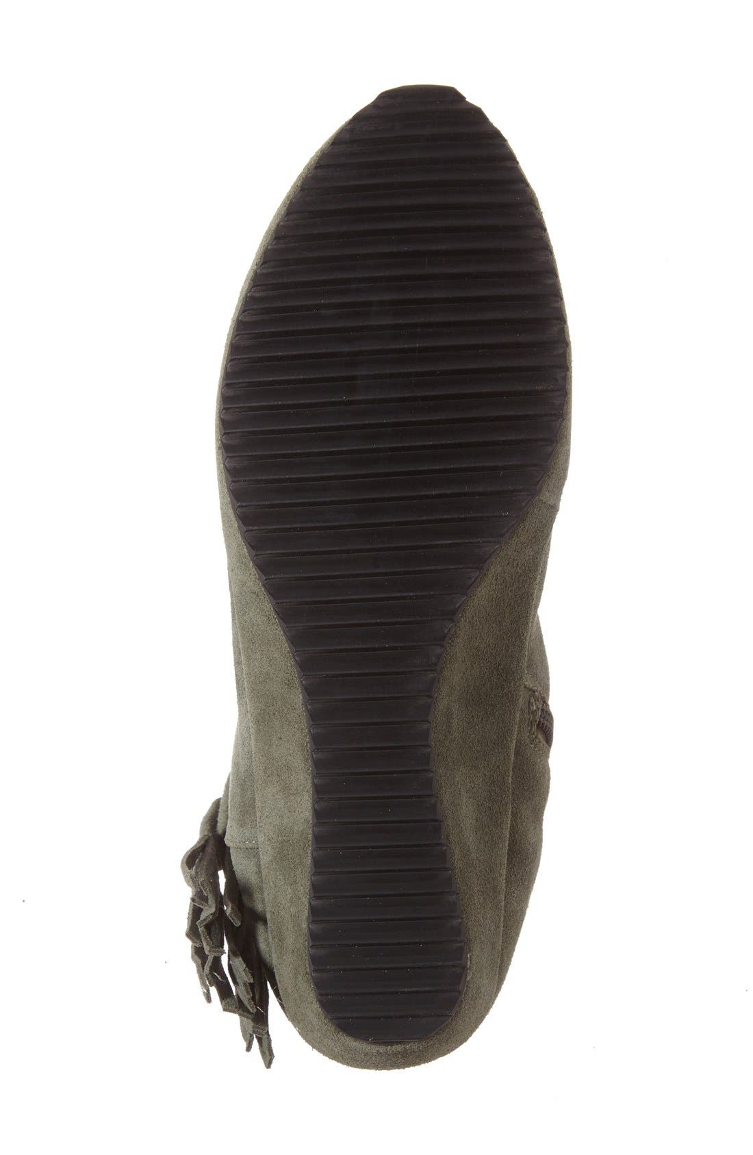 'Bernyce' Boot,                             Alternate thumbnail 4, color,                             Olive Suede Leather