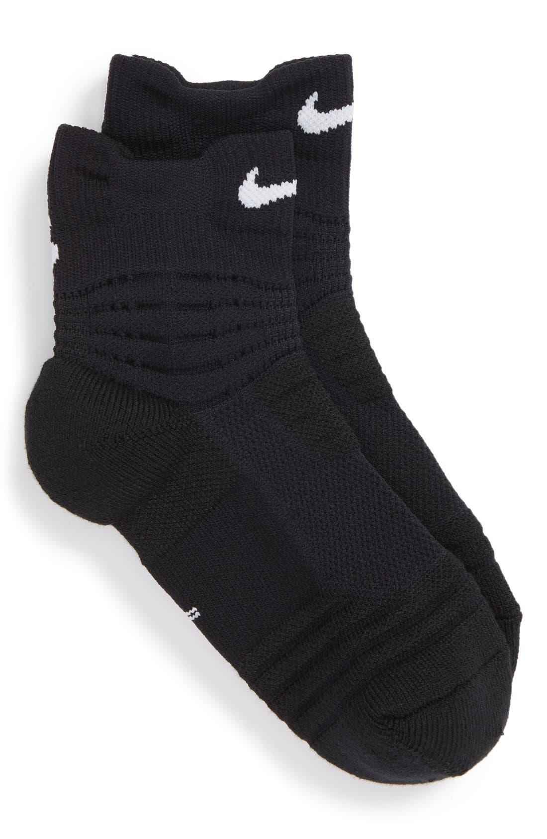 Nike 'Elite Basketball' Dri-FIT Cushioned Quarter Socks (Toddler, Little Kid & Big Kid)