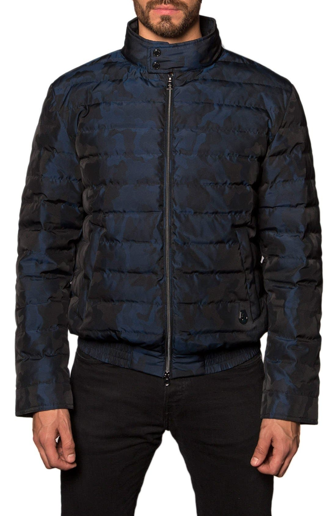 Chicago Camo Down Puffer Jacket,                         Main,                         color, Navy Camo