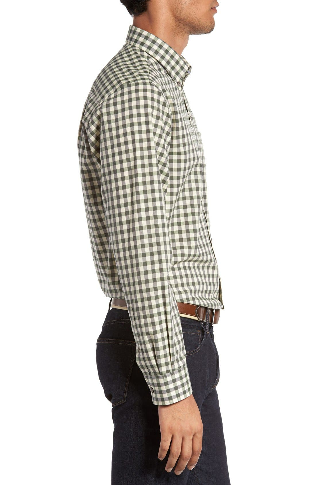 'Wildwood' Regular Fit Check Sport Shirt,                             Alternate thumbnail 4, color,                             Croquet