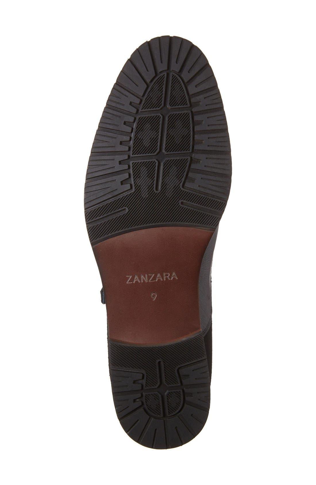 'Napoli' Double Monk Strap Shoe,                             Alternate thumbnail 4, color,                             Black