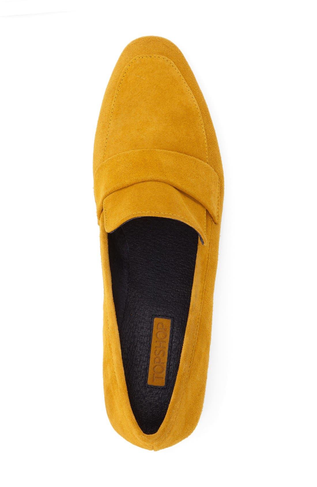 Alternate Image 3  - Topshop 'Karrot' Clear Heel Loafer (Women)