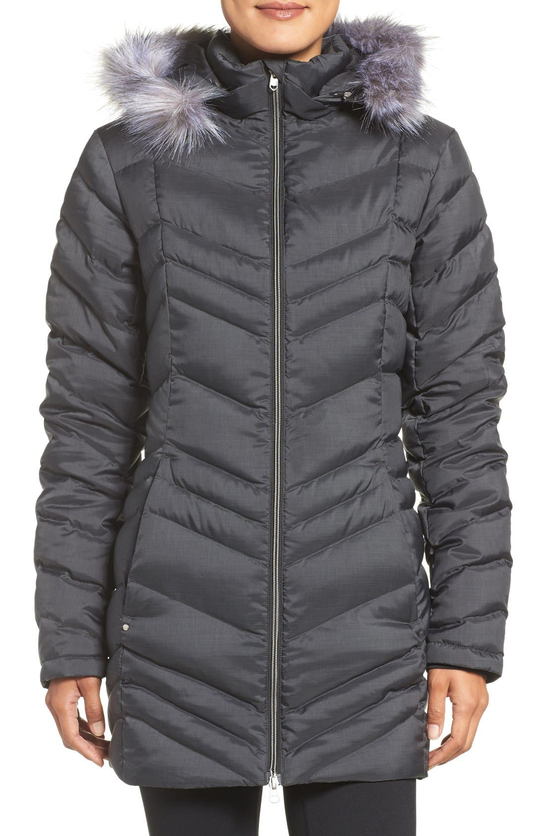 Main Image - Spyder Faux Fur Trim Down Jacket