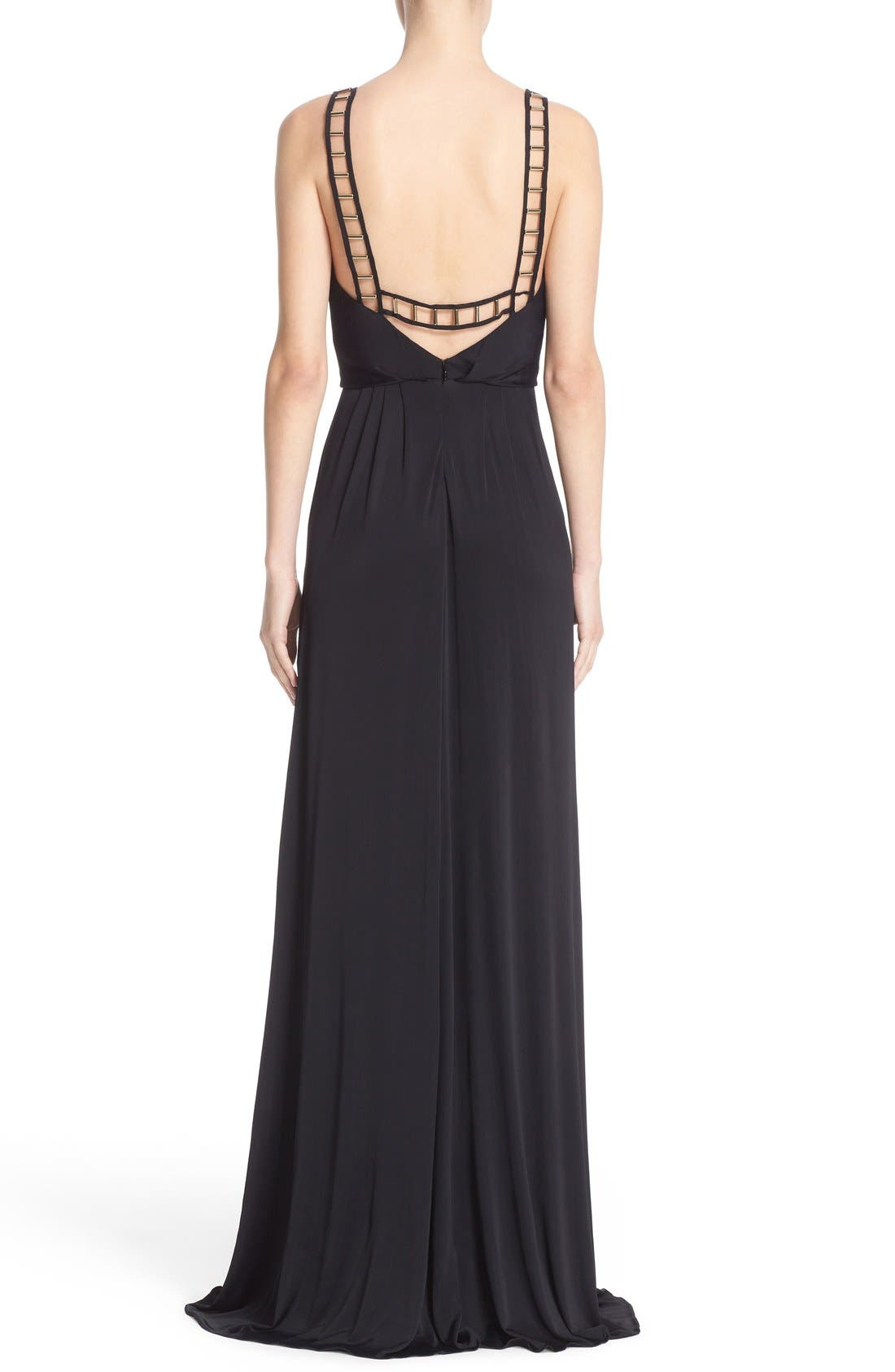 Alternate Image 2  - Versace Embellished Matte Jersey Gown