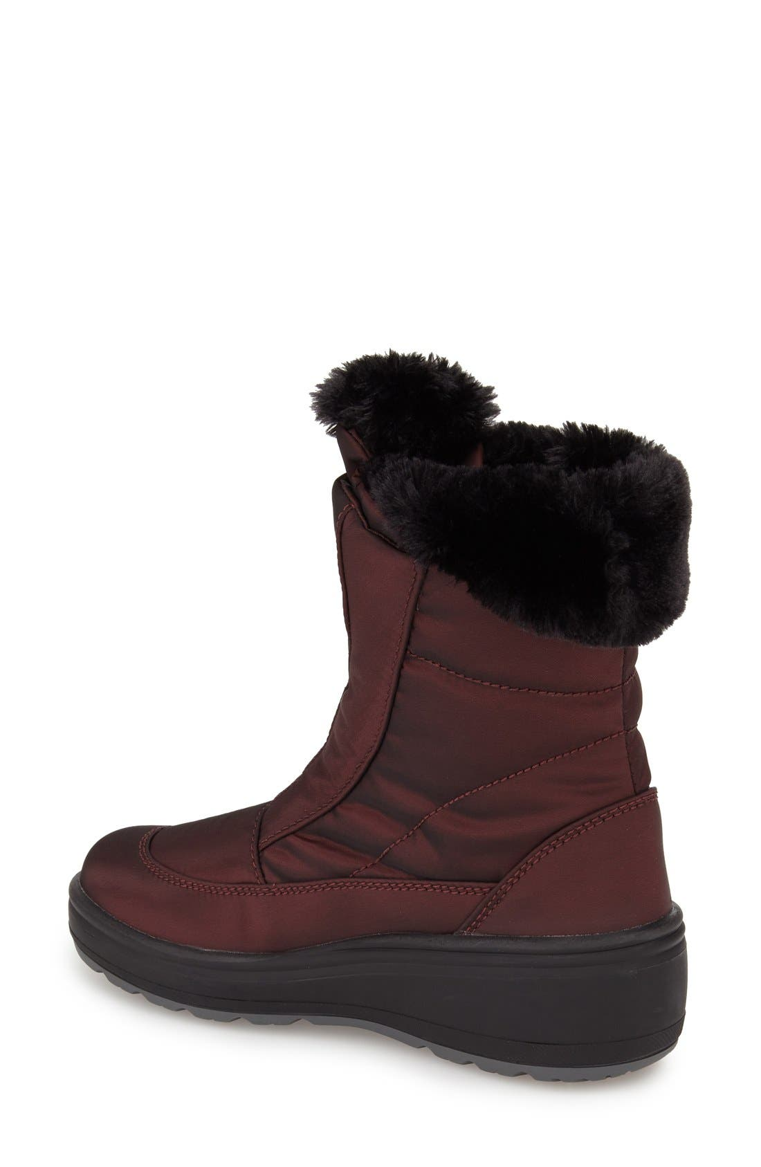 'Kimmi' Snow Boot,                             Alternate thumbnail 2, color,                             Burgundy Fabric