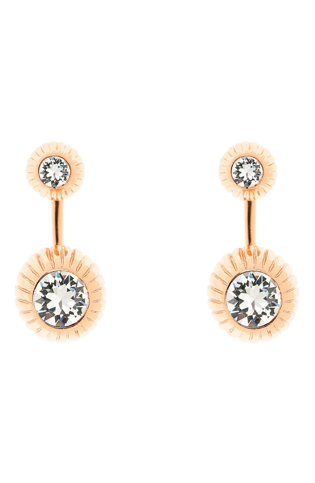 'Areal' Crystal Ear Jackets,                         Main,                         color, Gold/ Crystal
