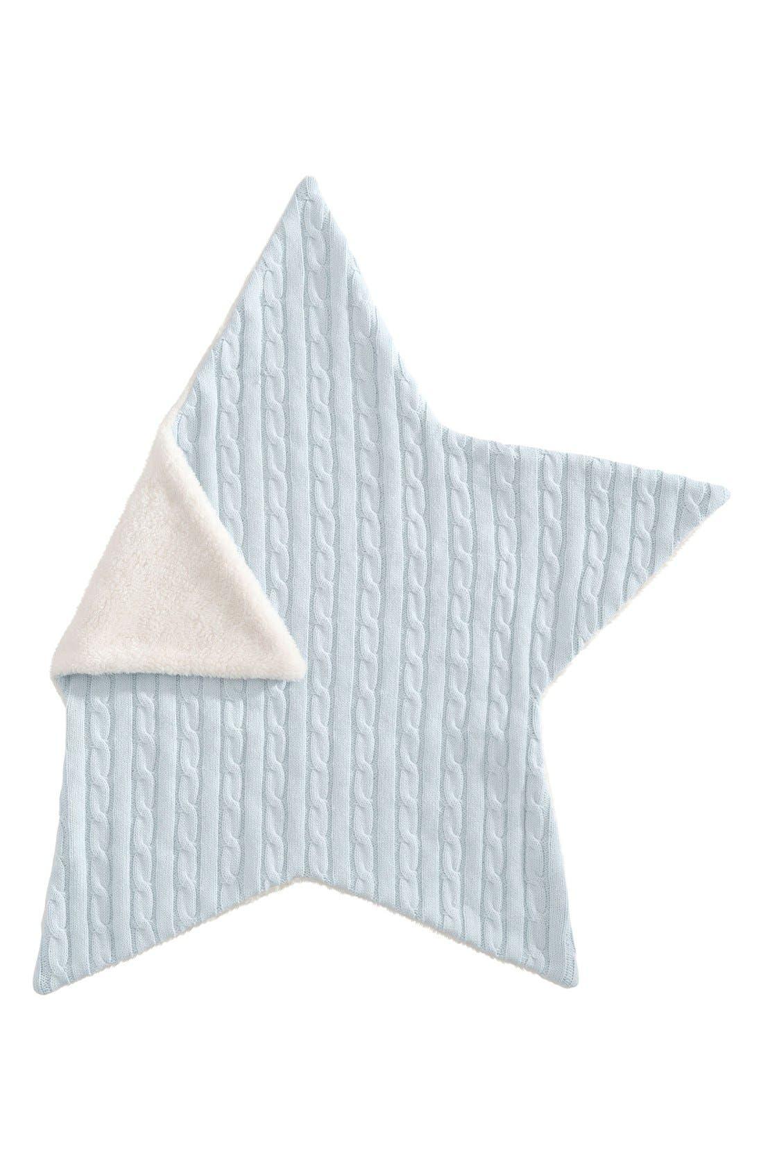Alternate Image 2  - Elegant Baby Cable Knit Star Blanket