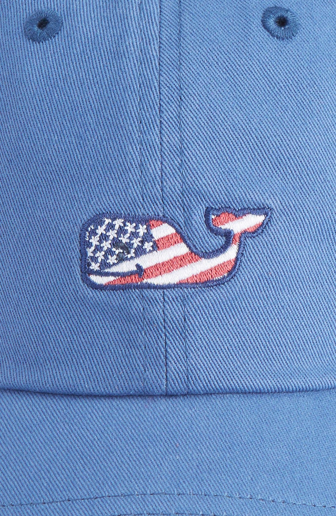 Alternate Image 4  - vineyard vines Flag Whale Logo Baseball Cap