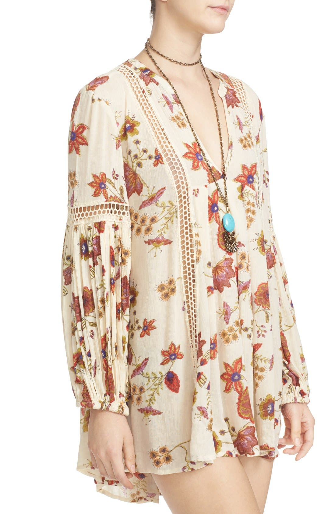 Alternate Image 4  - Free People Just the Two of Us Floral Tunic
