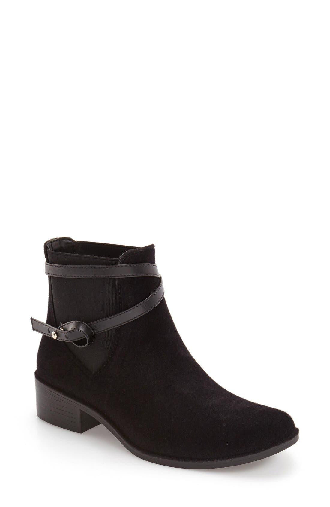 Bernardo Peony Water Resistant Chelsea Boot,                         Main,                         color, Black Velvet