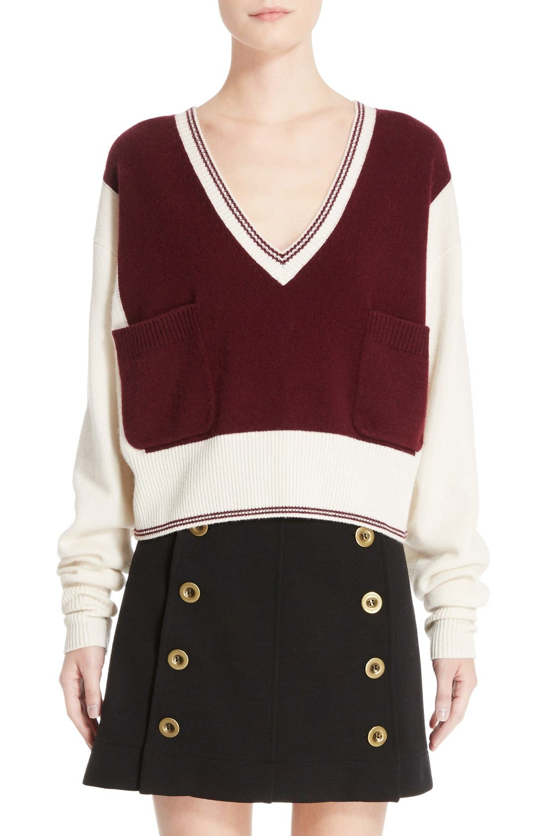 Alternate Image 1 Selected - Chloé Bicolor Sweater