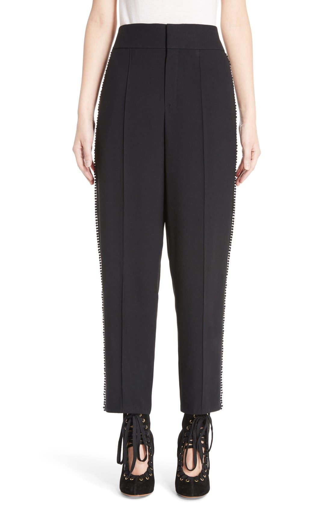 Alternate Image 1 Selected - Chloé Pompom Side Stripe Pants