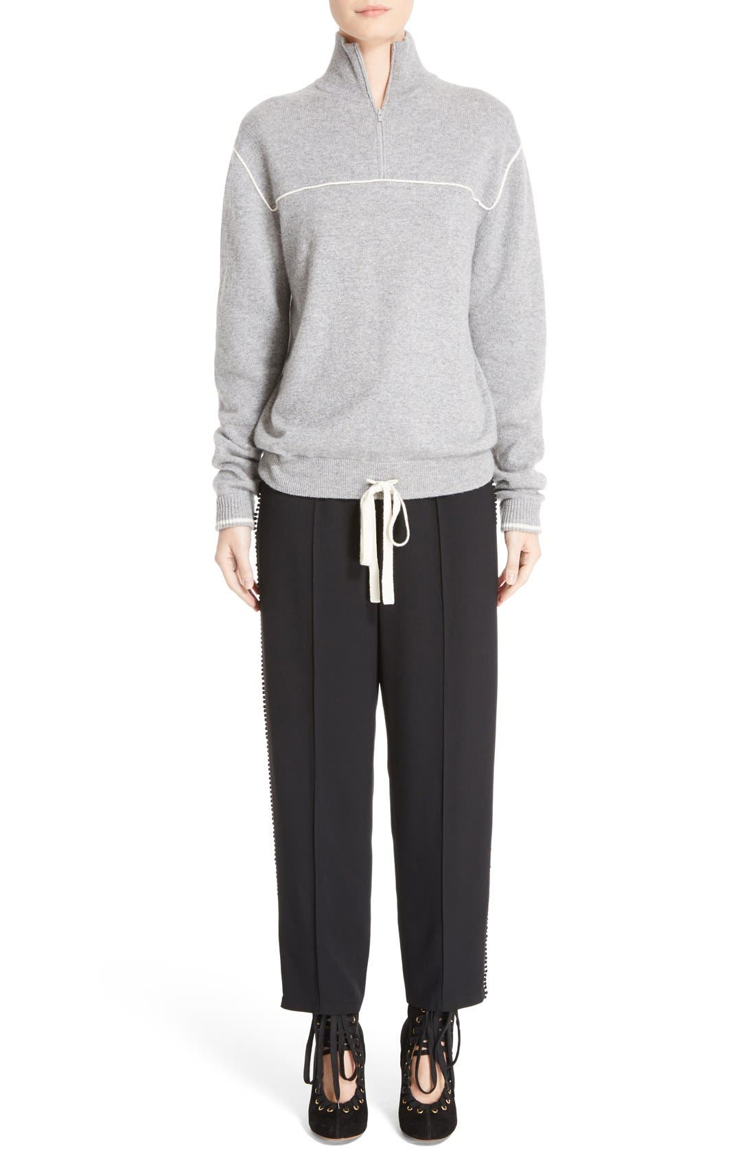 Alternate Image 6  - Chloé Pompom Side Stripe Pants