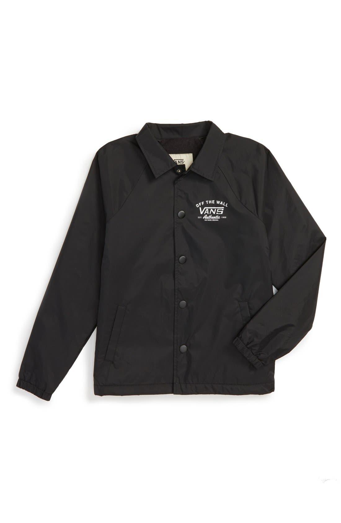 'Torrey' Nylon Jacket,                             Main thumbnail 1, color,                             Black