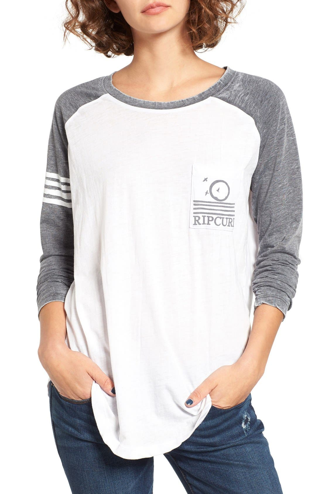 Alternate Image 1 Selected - Rip Curl Surf Bird Graphic Baseball Tee