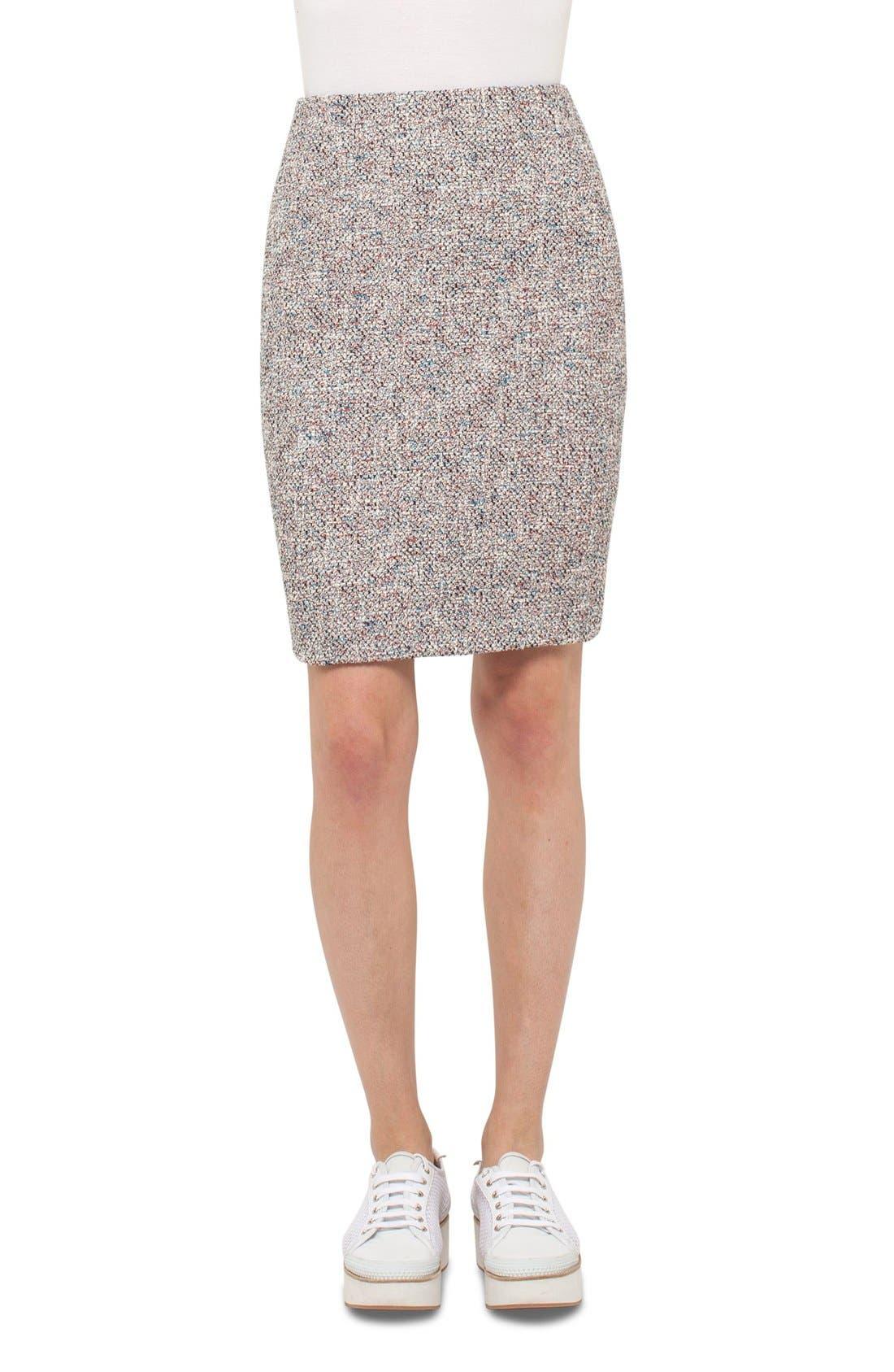 Main Image - Akris punto Stretch Tweed Pencil Skirt